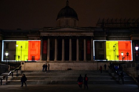 London's National Gallery lights up for Brussels