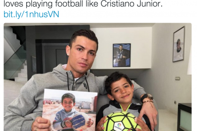 Cristiano Ronaldo heard about and publicized the story of Ayman, a five-year-old Syrian refugee.