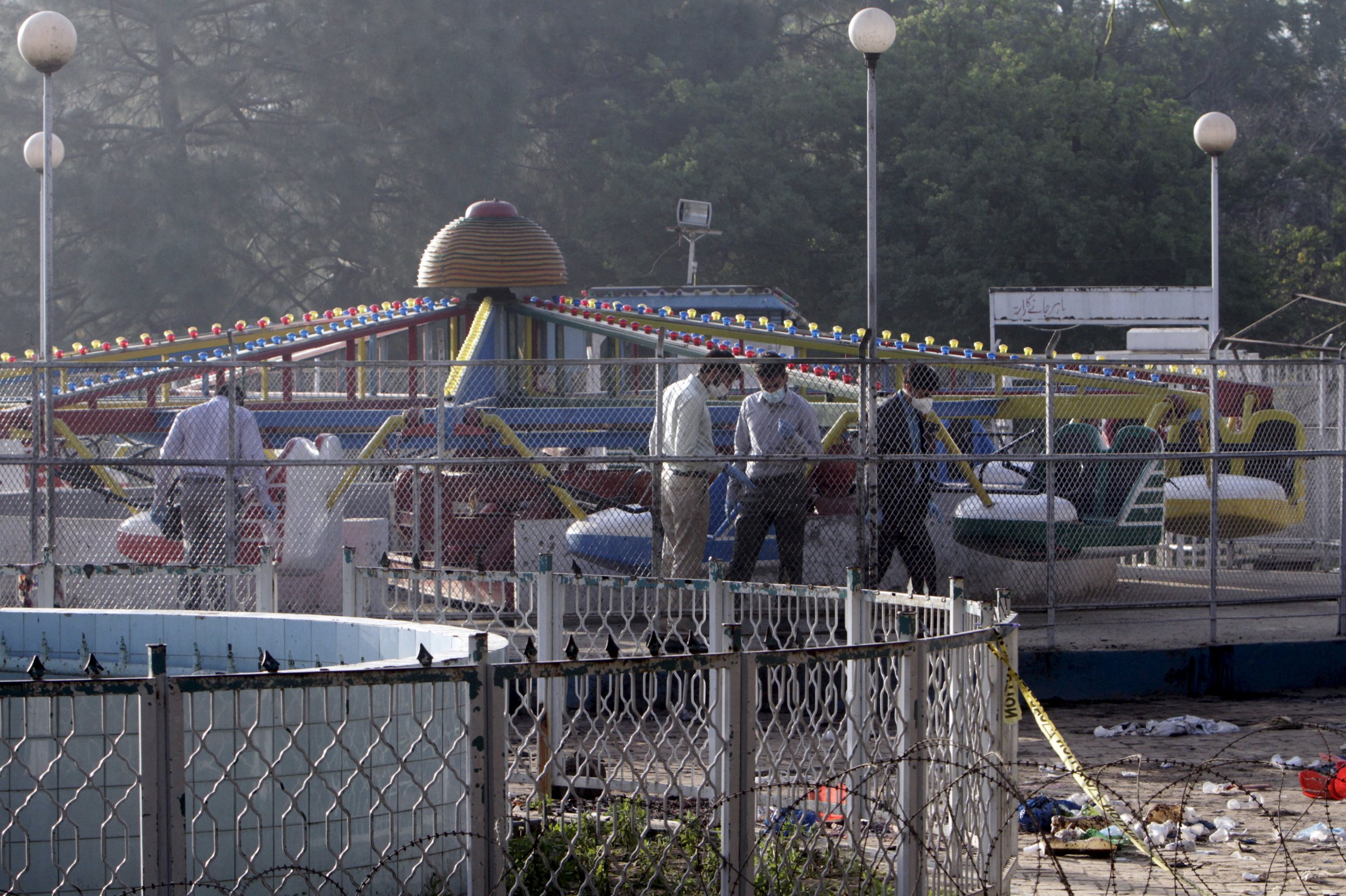 Pakistan Bombing: Forensic officers look for evidence