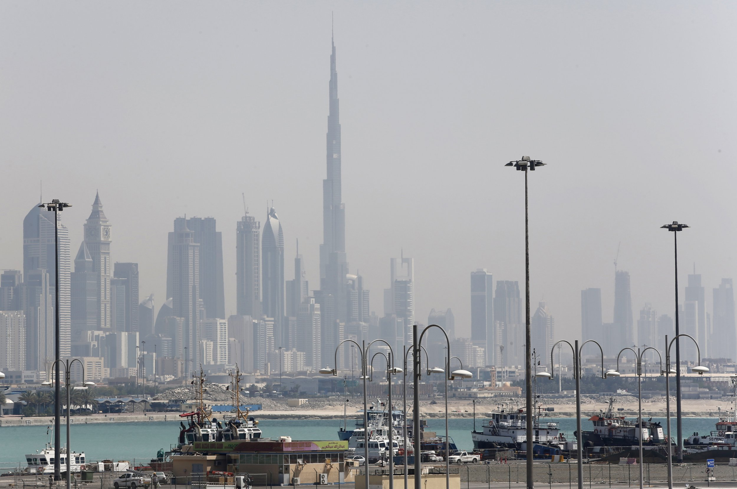 The Dubai skyline is pictured.