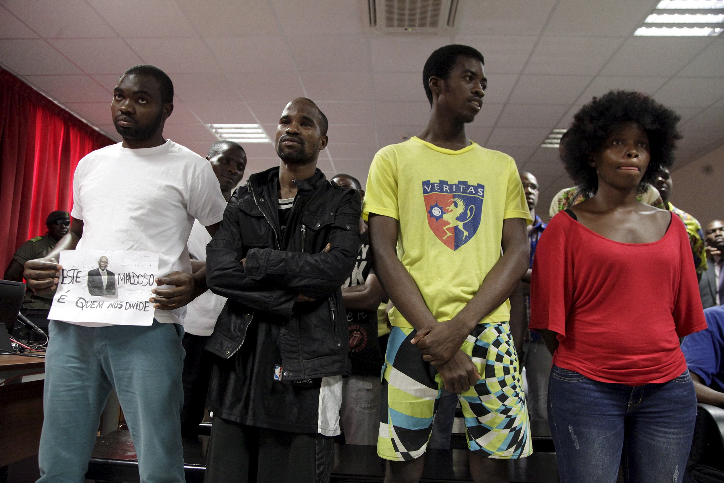 Angolan youth activists are sentenced for rebellion.