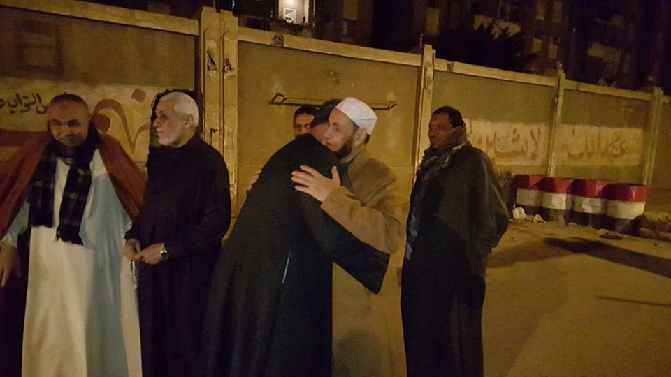 Sheikh Abdus Salaam Bassiouni is freed from prison in Cairo.