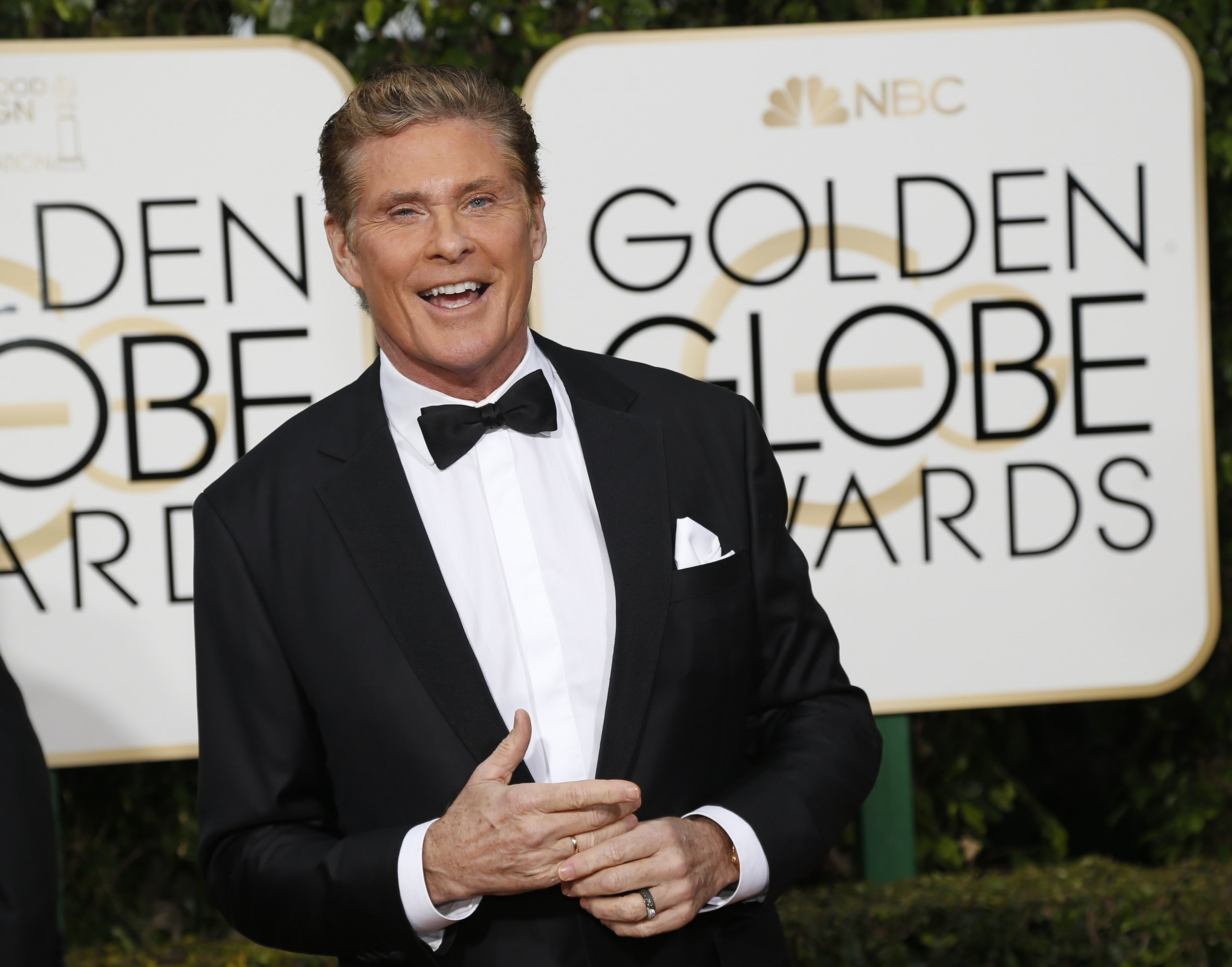 David Hasselhoff at the Golden Globes