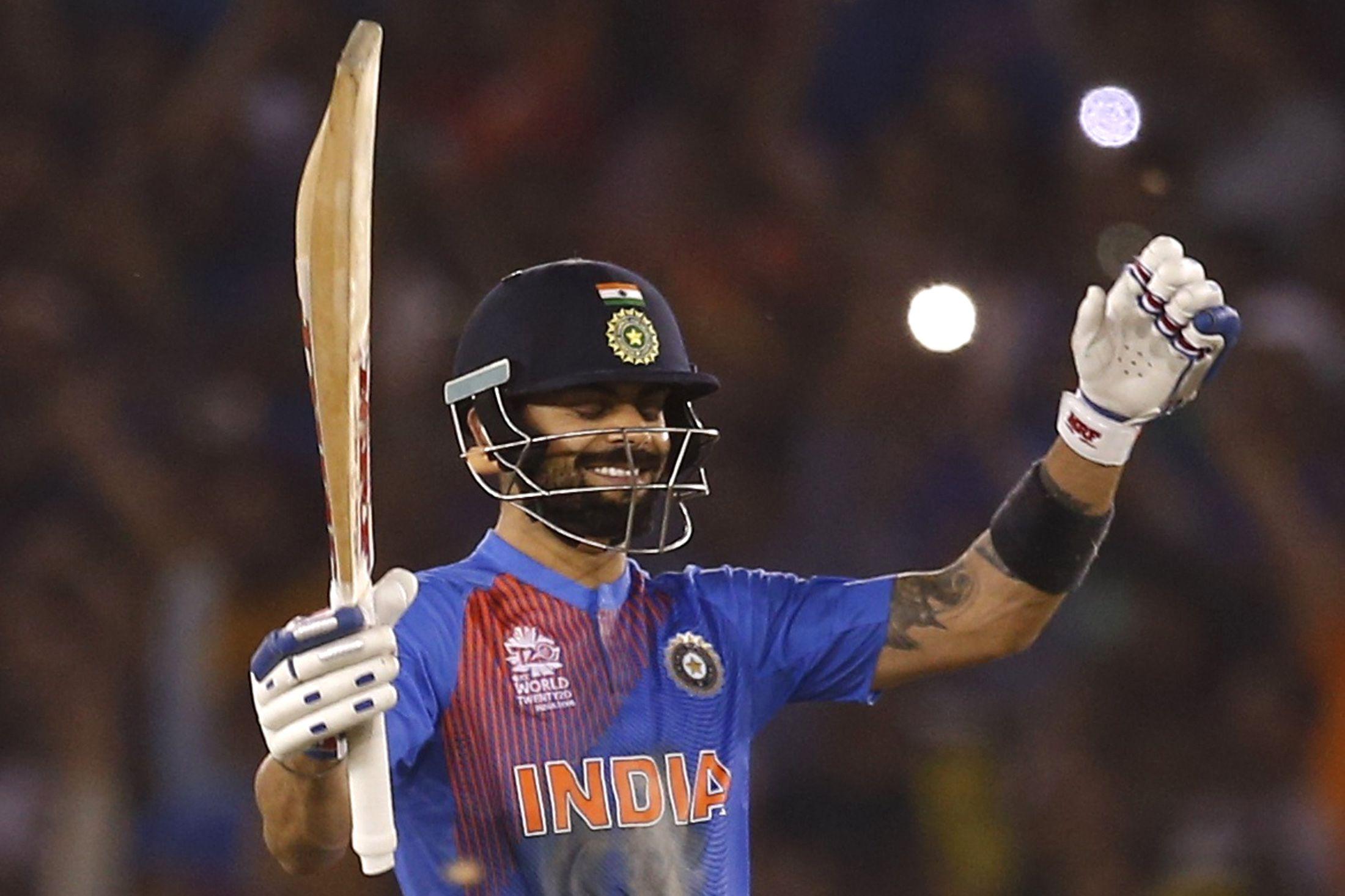 Virat Kohli struck a brilliant 82 not out for India against Australia on Sunday.