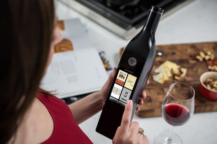 smart wine bottle kuvee wifi IoT