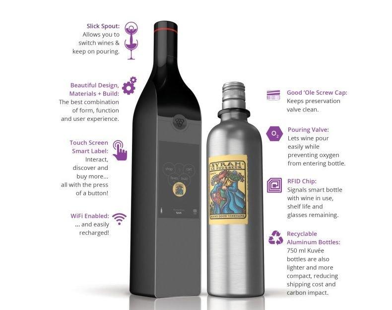 smart wine bottle kuvee wifi