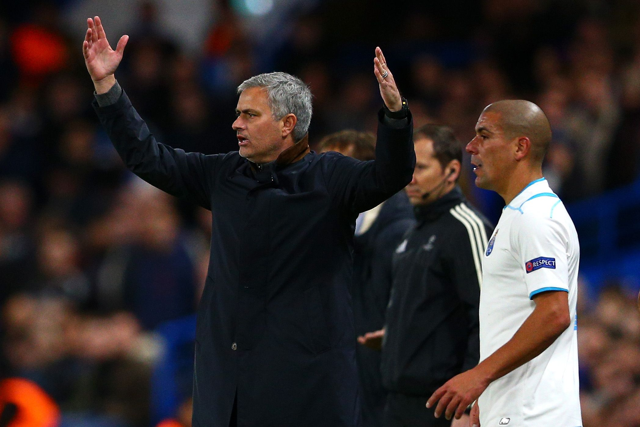 Jose Mourinho, left, has been out of work since leaving Chelsea in December.