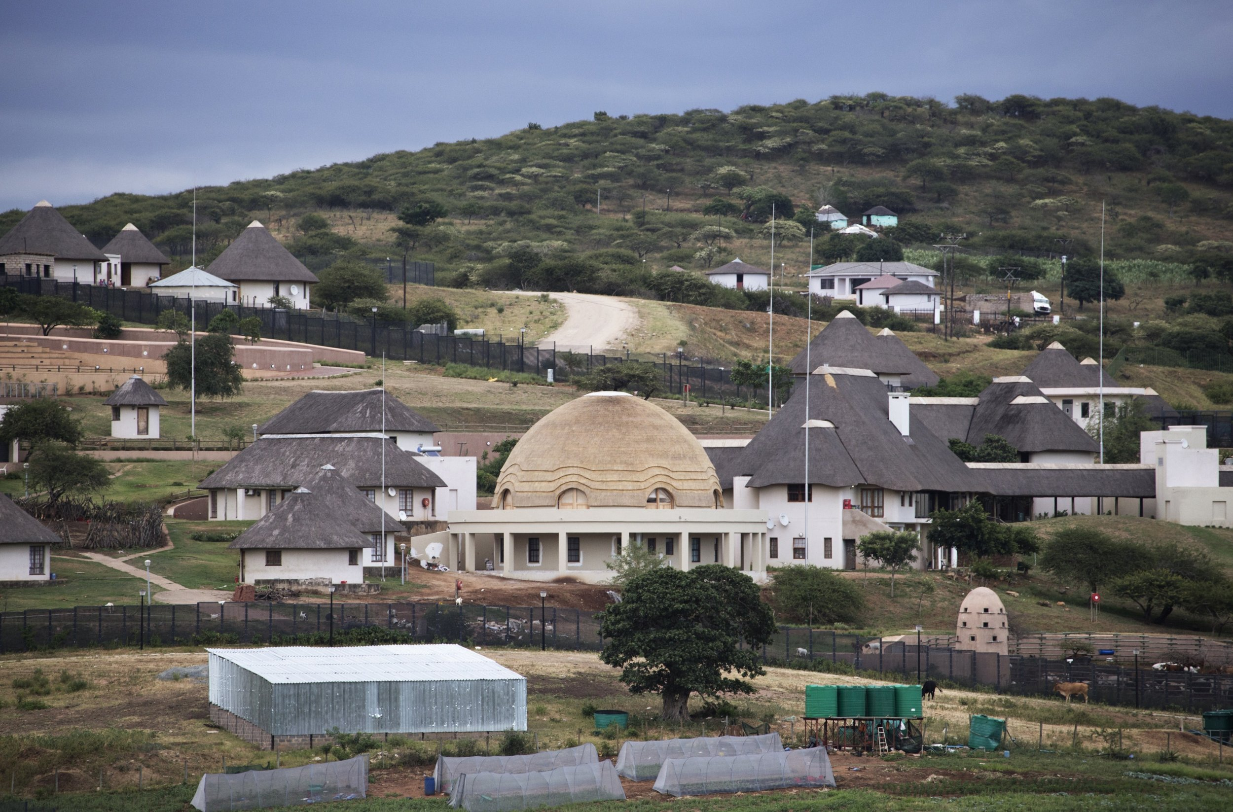 Jacob Zuma's Nkandla homestead in South Africa.