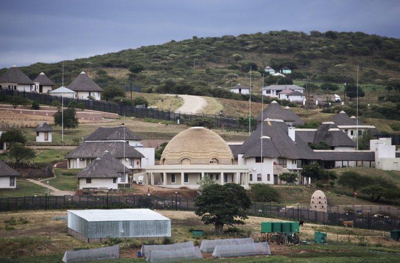 Jacob Zuma's Nkandla homestead in South Africa.