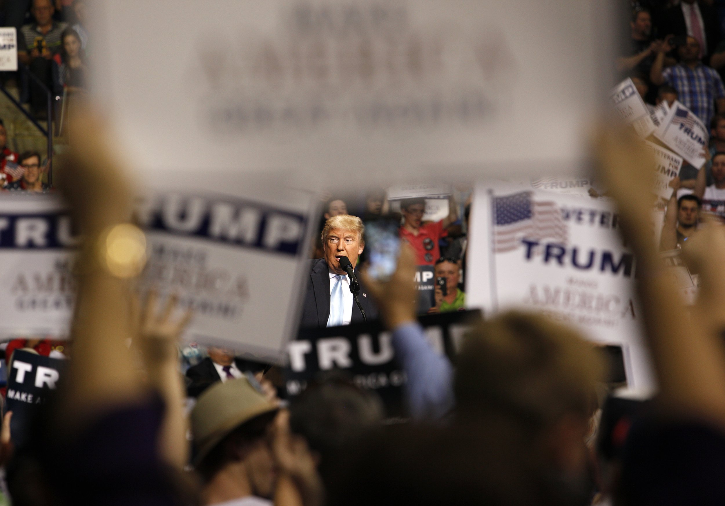 image Trump supporter wife celebrates with bbc staff at convention