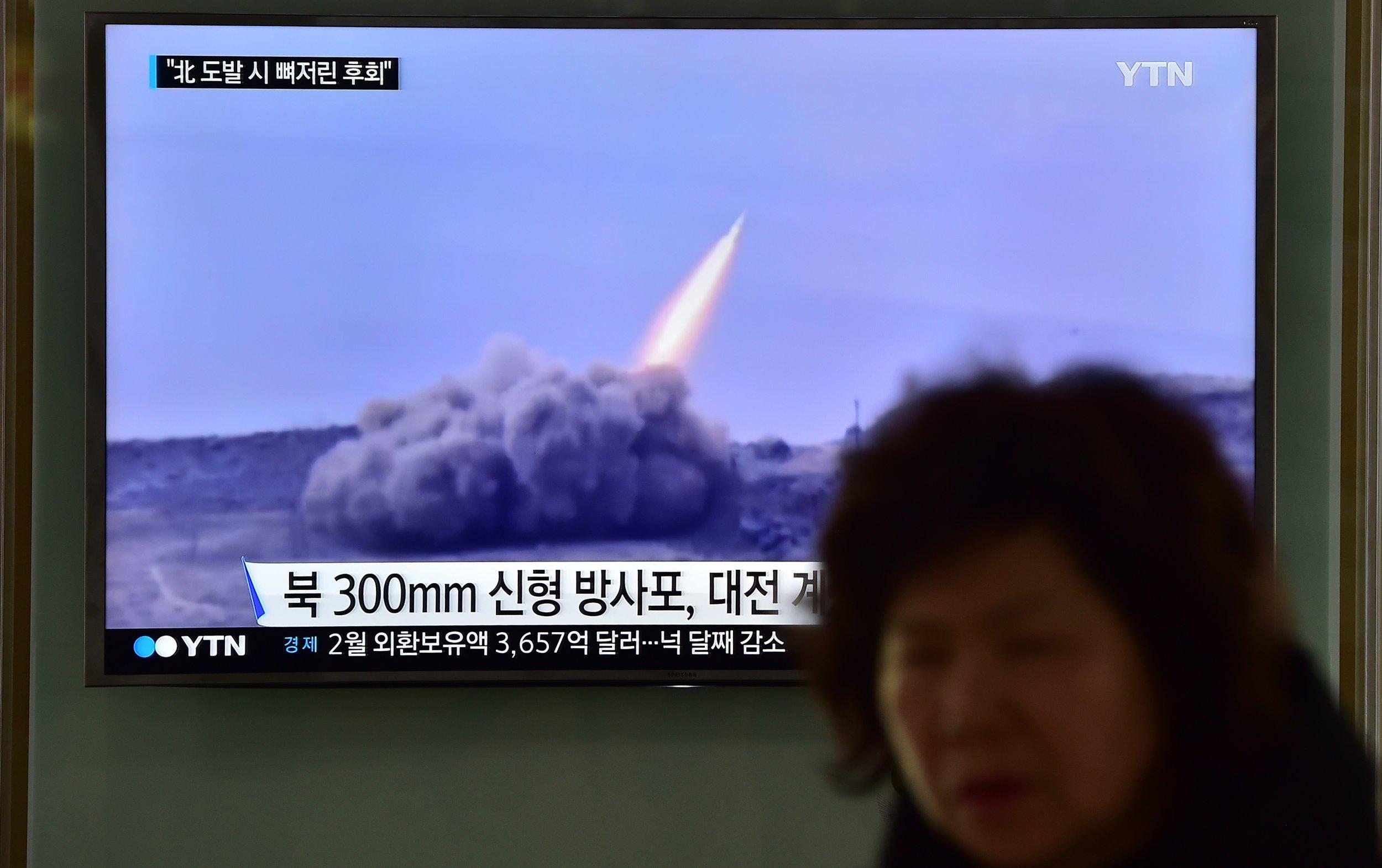North Korea missile test.