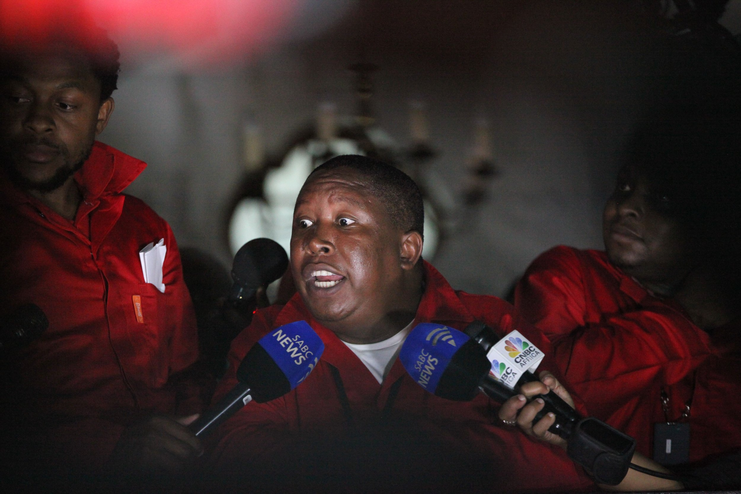 EFF leader Julius Malema speaks in Cape Town.