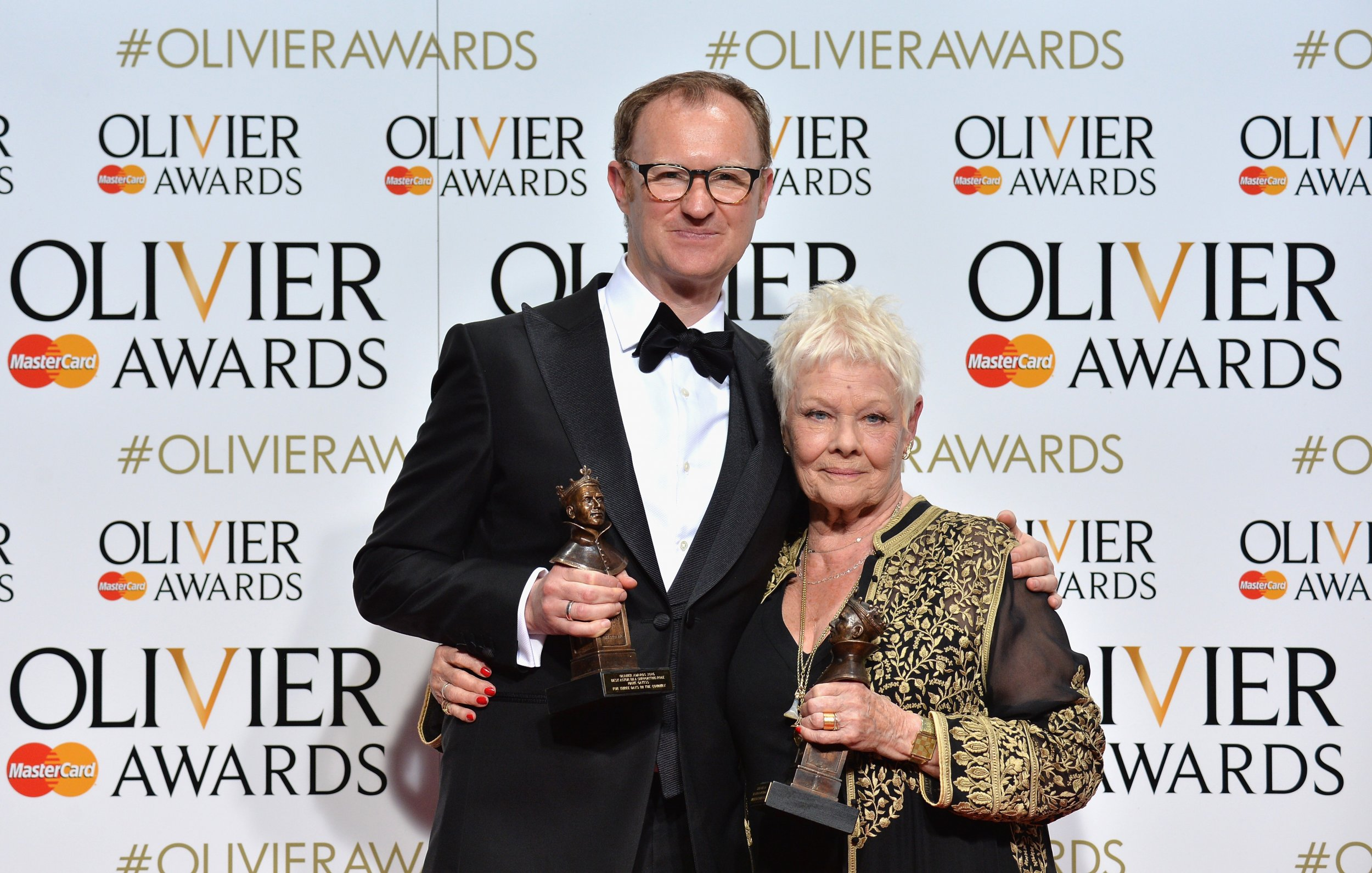 Judi Dench and Mark Gatiss at Olivier Awards