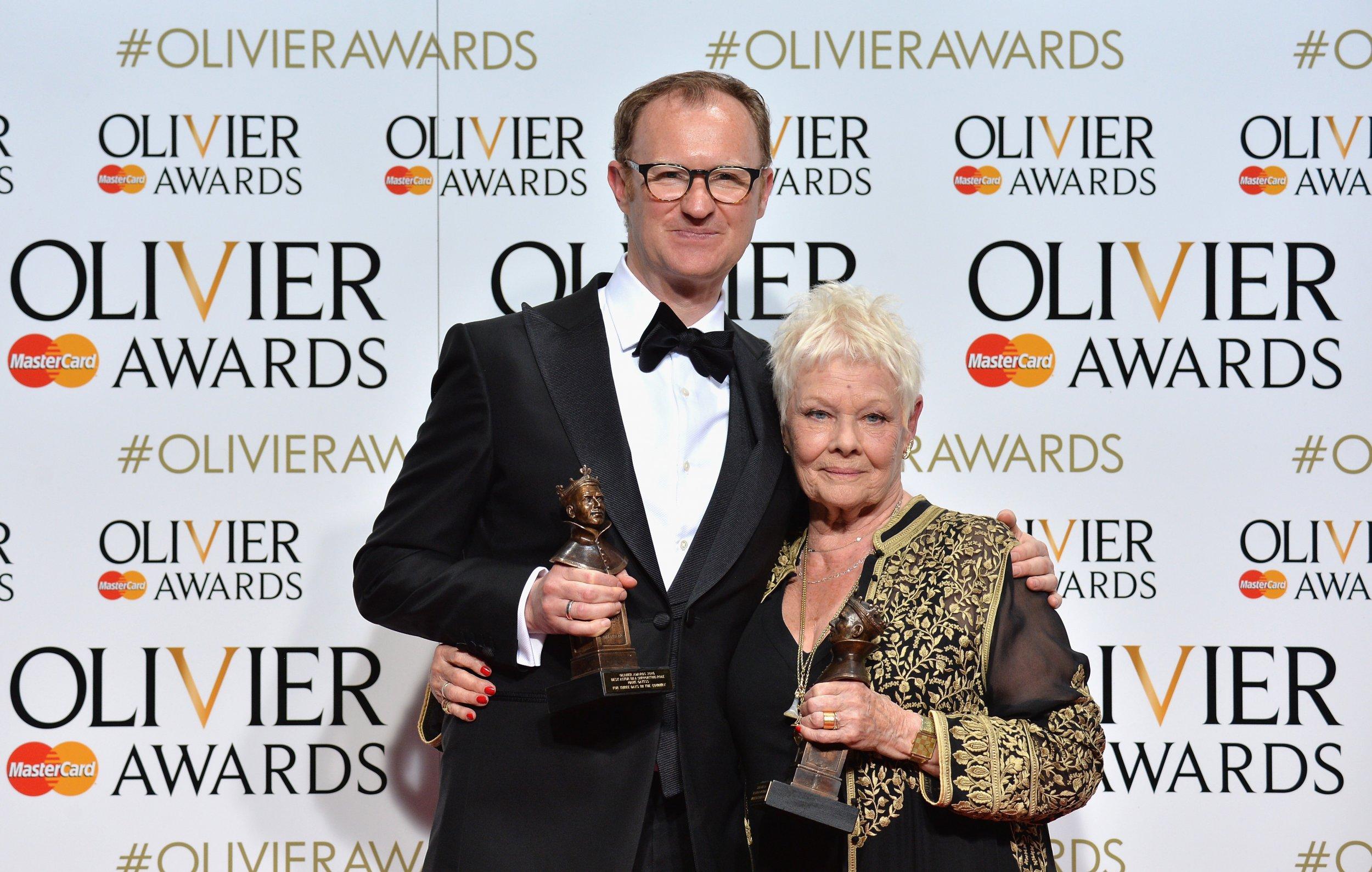 Judi Dench and Mark Gatiss at Olivier Awards