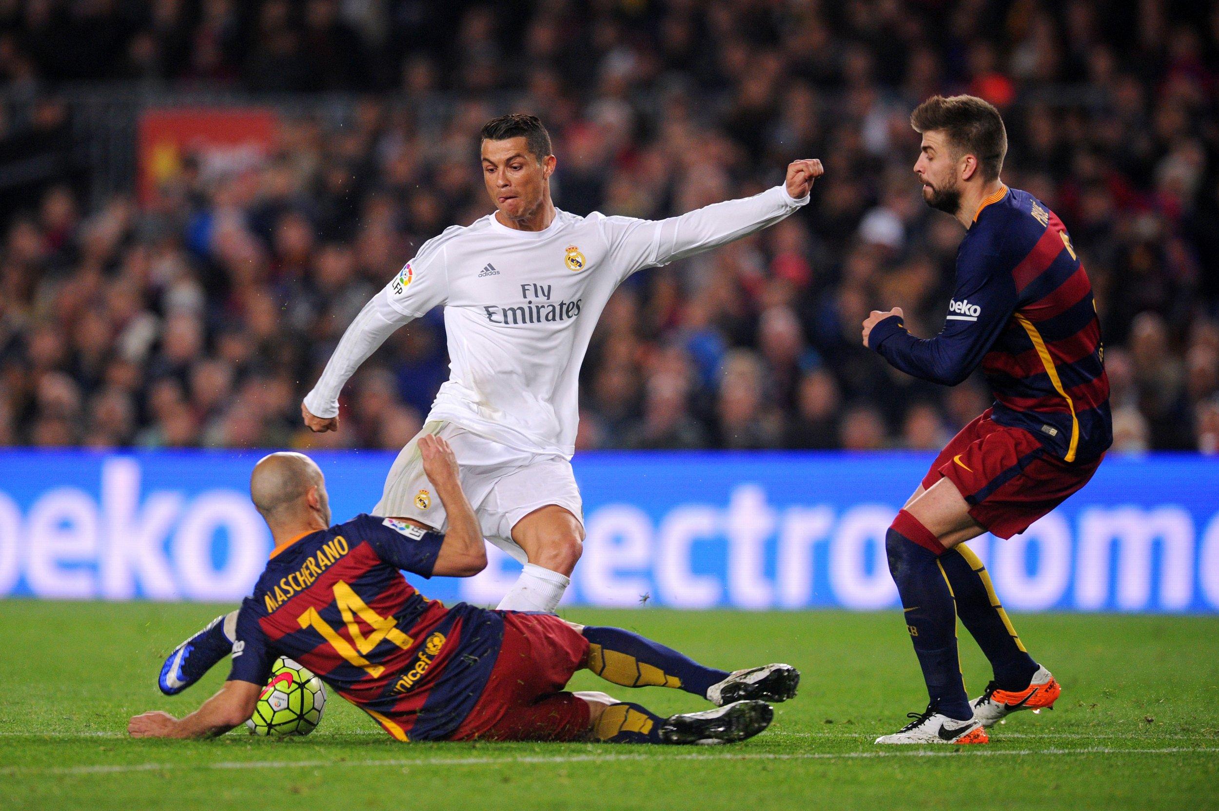Cristiano Ronaldo scored the winning goal in El Clasico on Saturday.