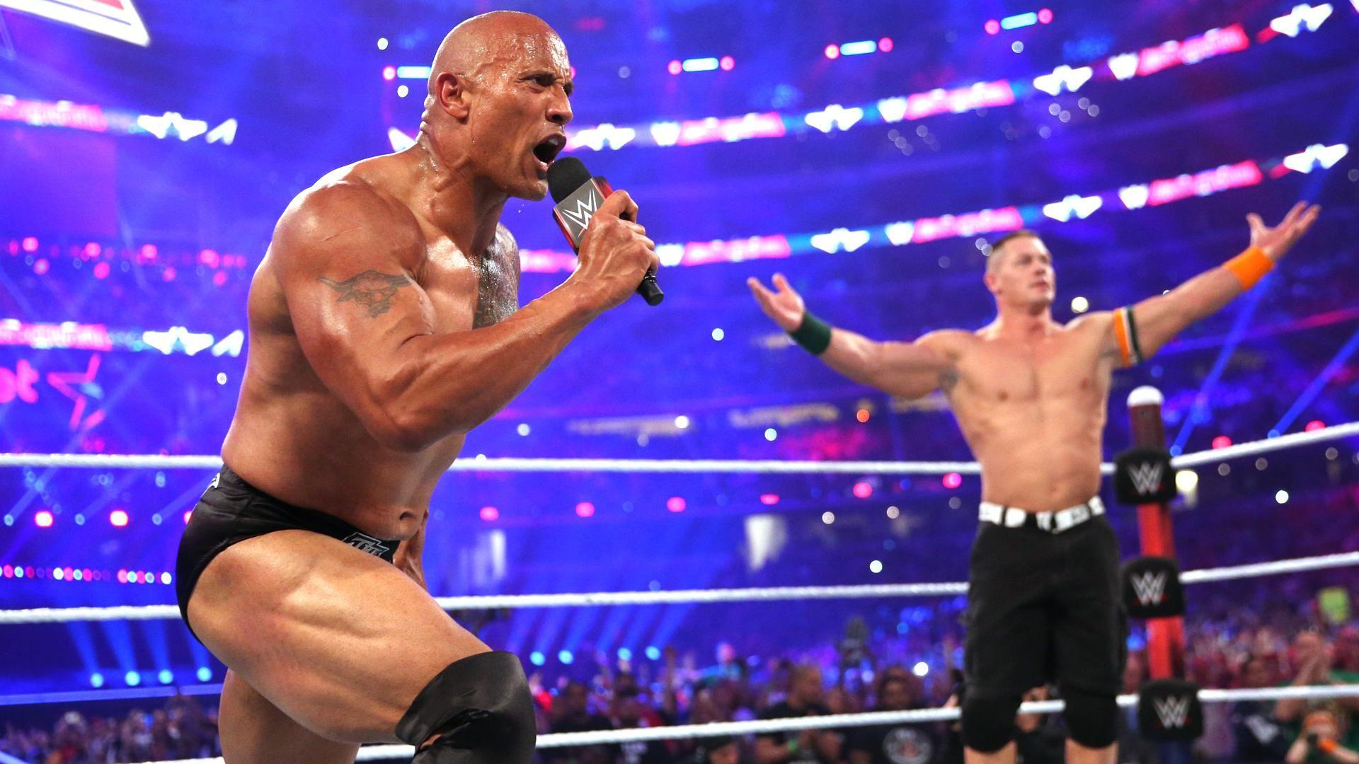 The Rock and John Cena at WrestleMania 32