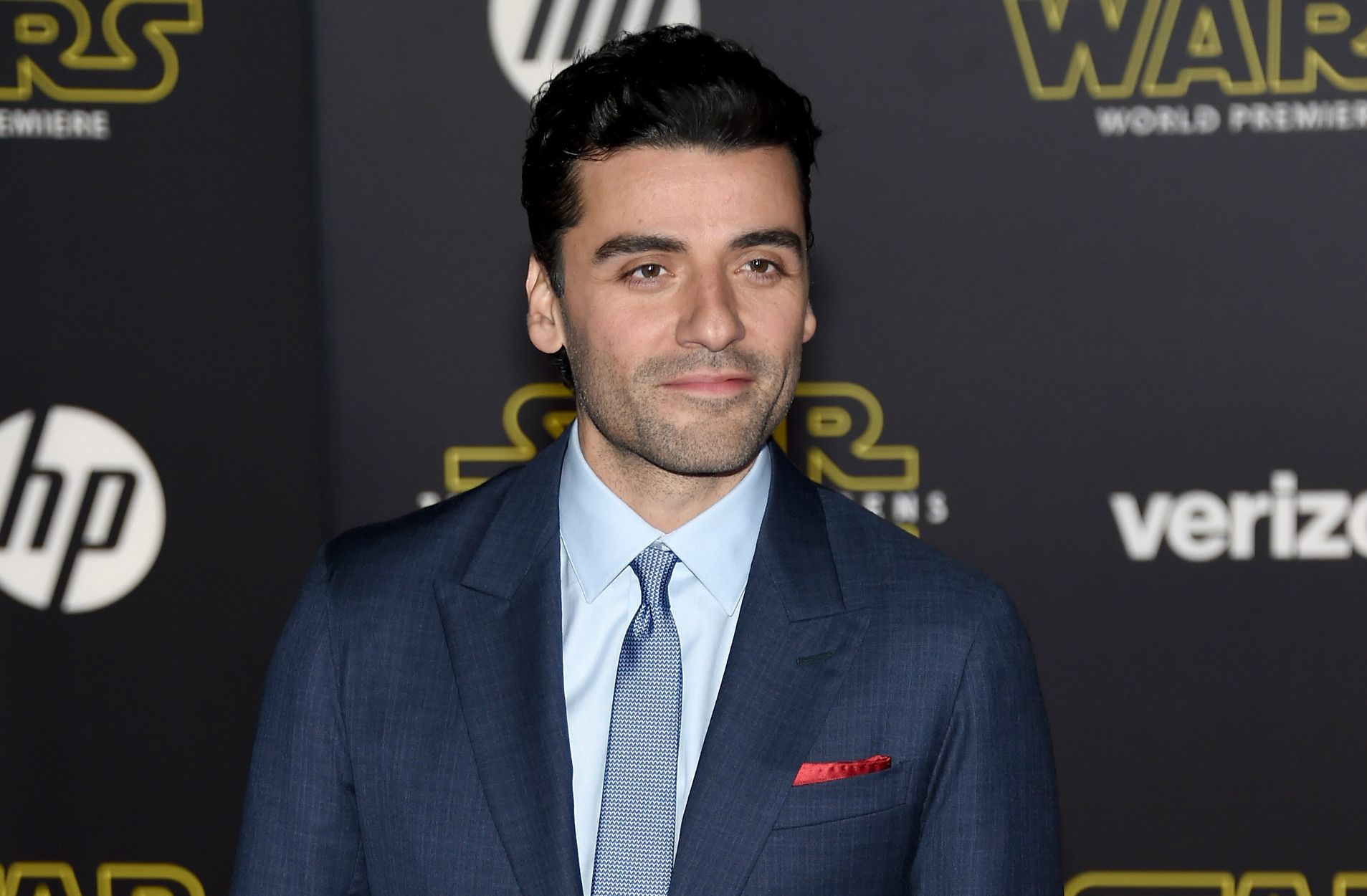 Oscar Isaac at Star Wars premiere