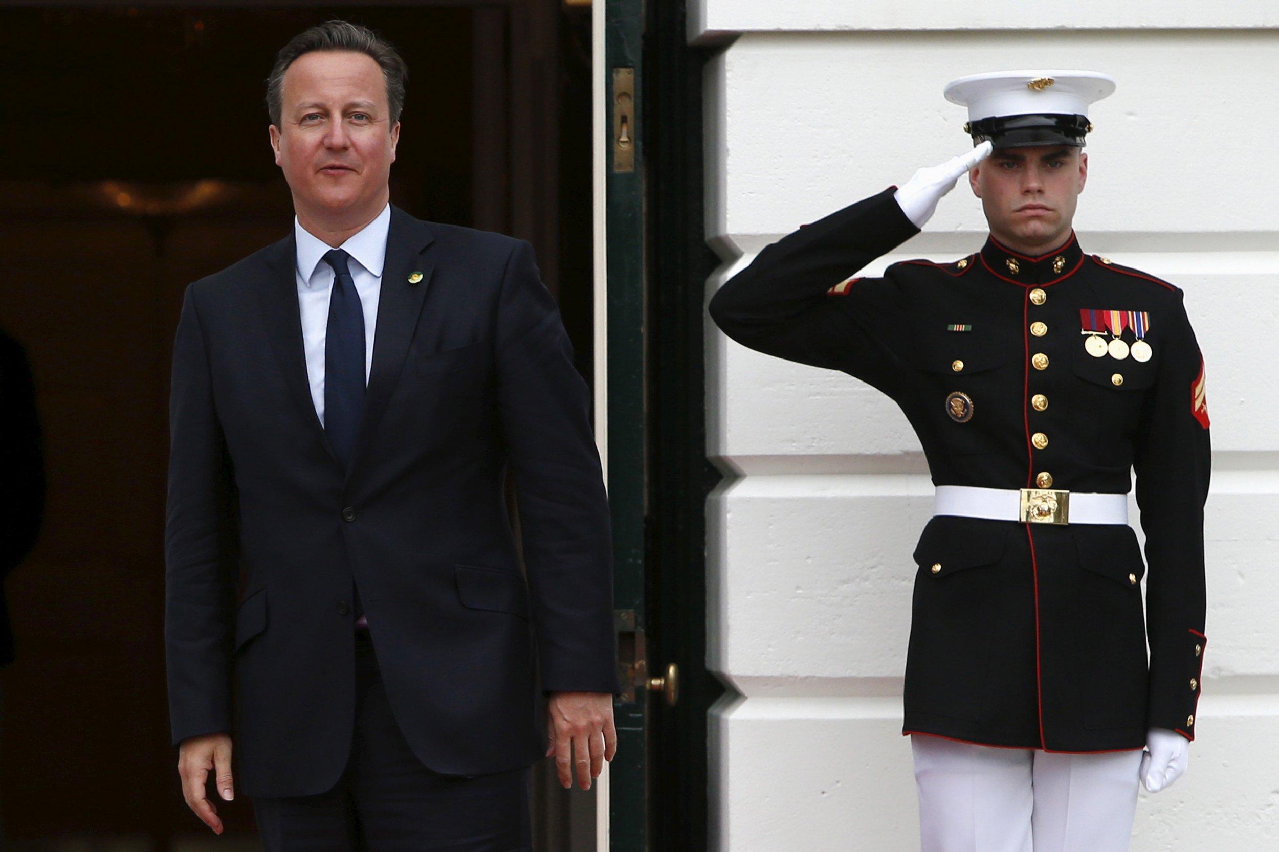 David Cameron at the White House