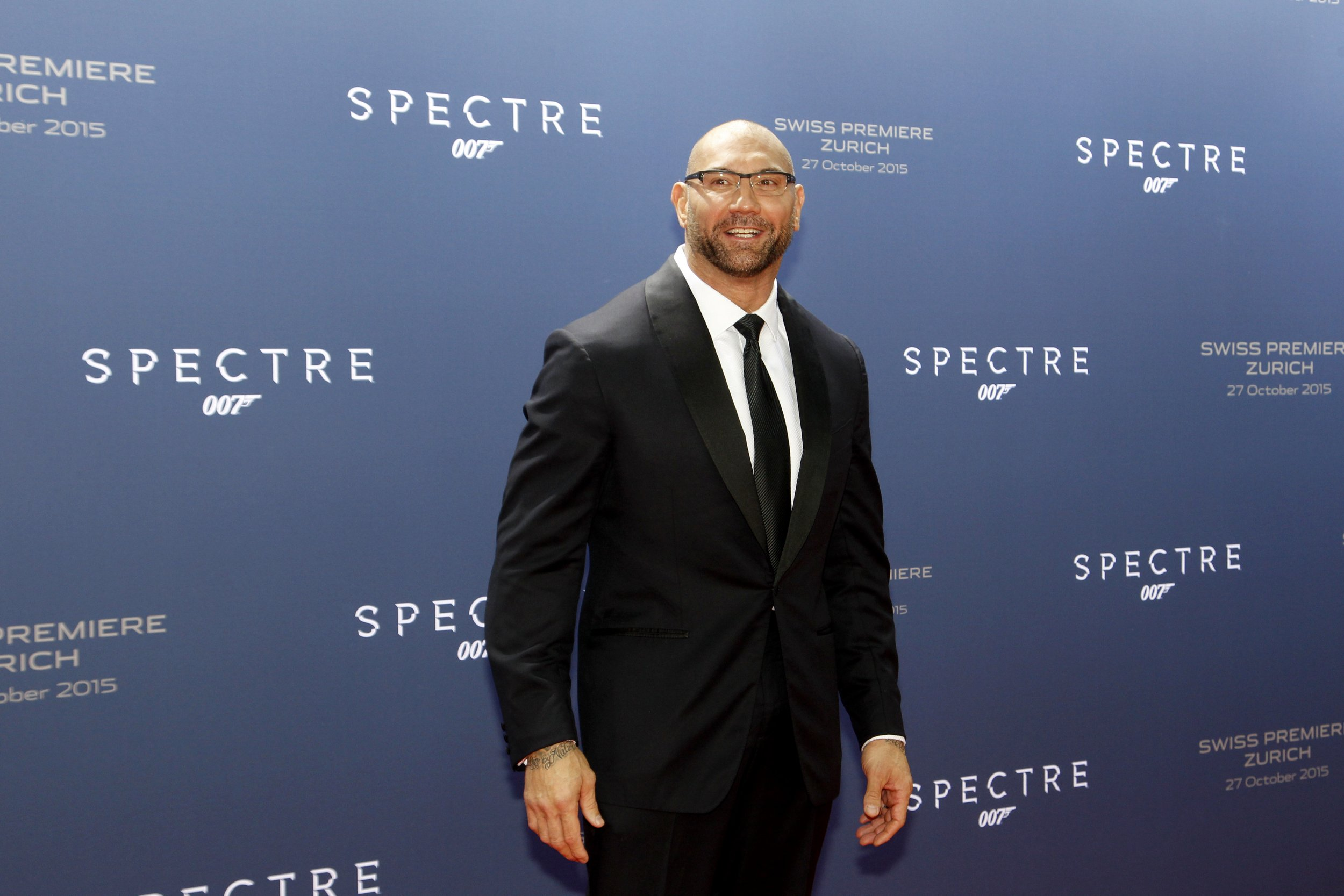 Dave Bautista at SPECTRE premiere