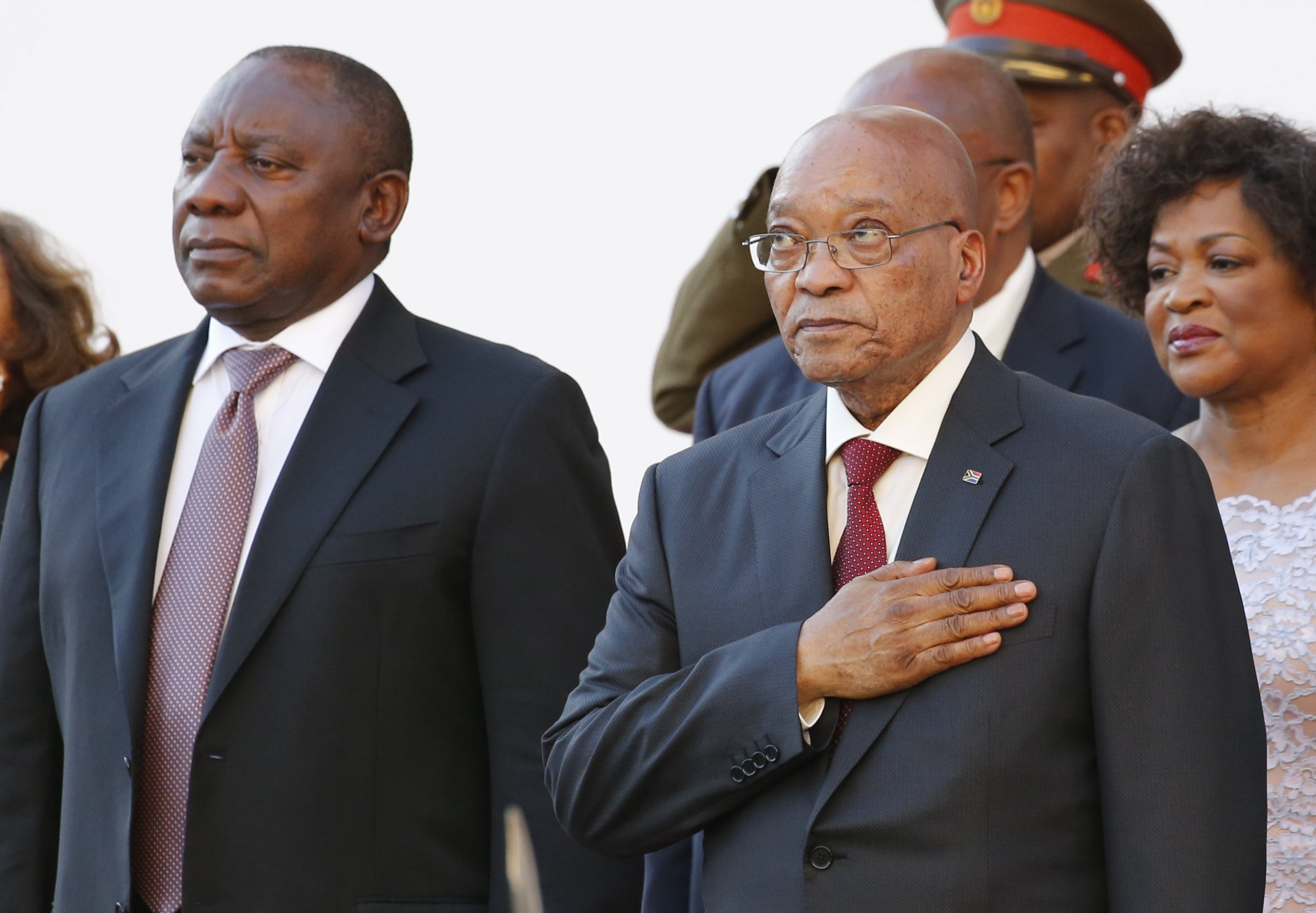 South Africa's President Jacob Zuma at the opening of parliament.