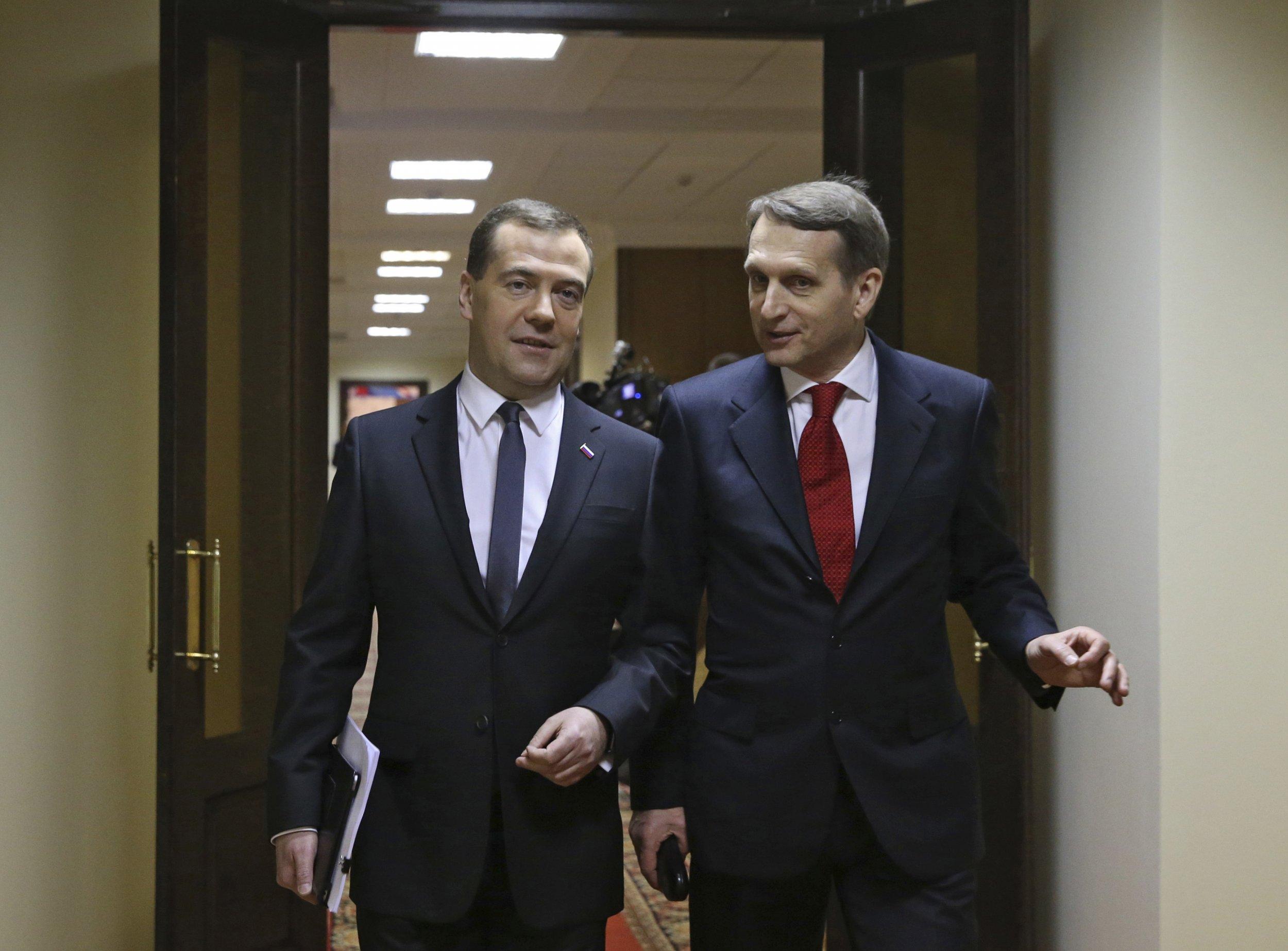 Medvedev and Naryshkin
