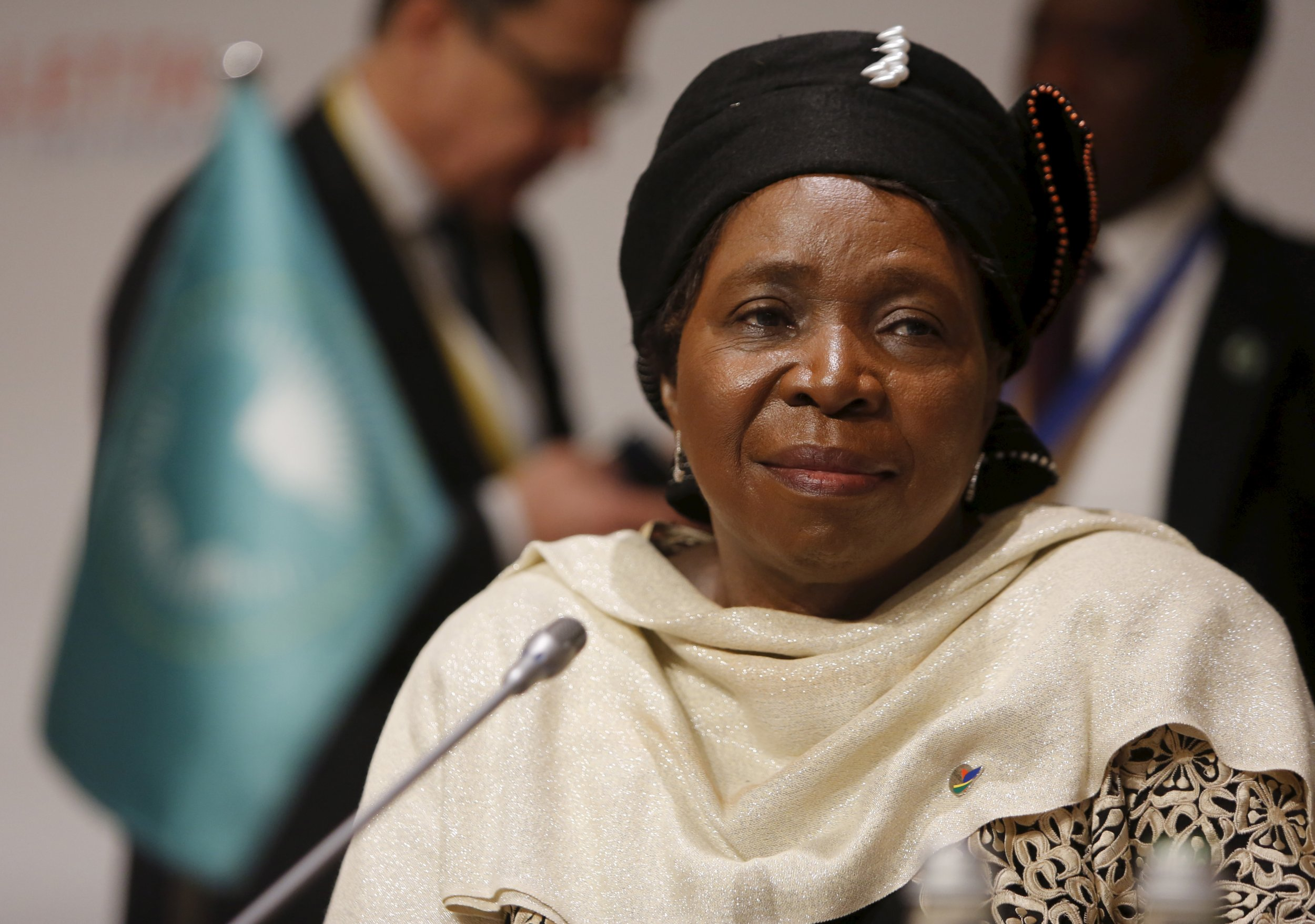 African Union chairperson Nkosazana Dlamini-Zuma attends the Valletta Summit in Malta.