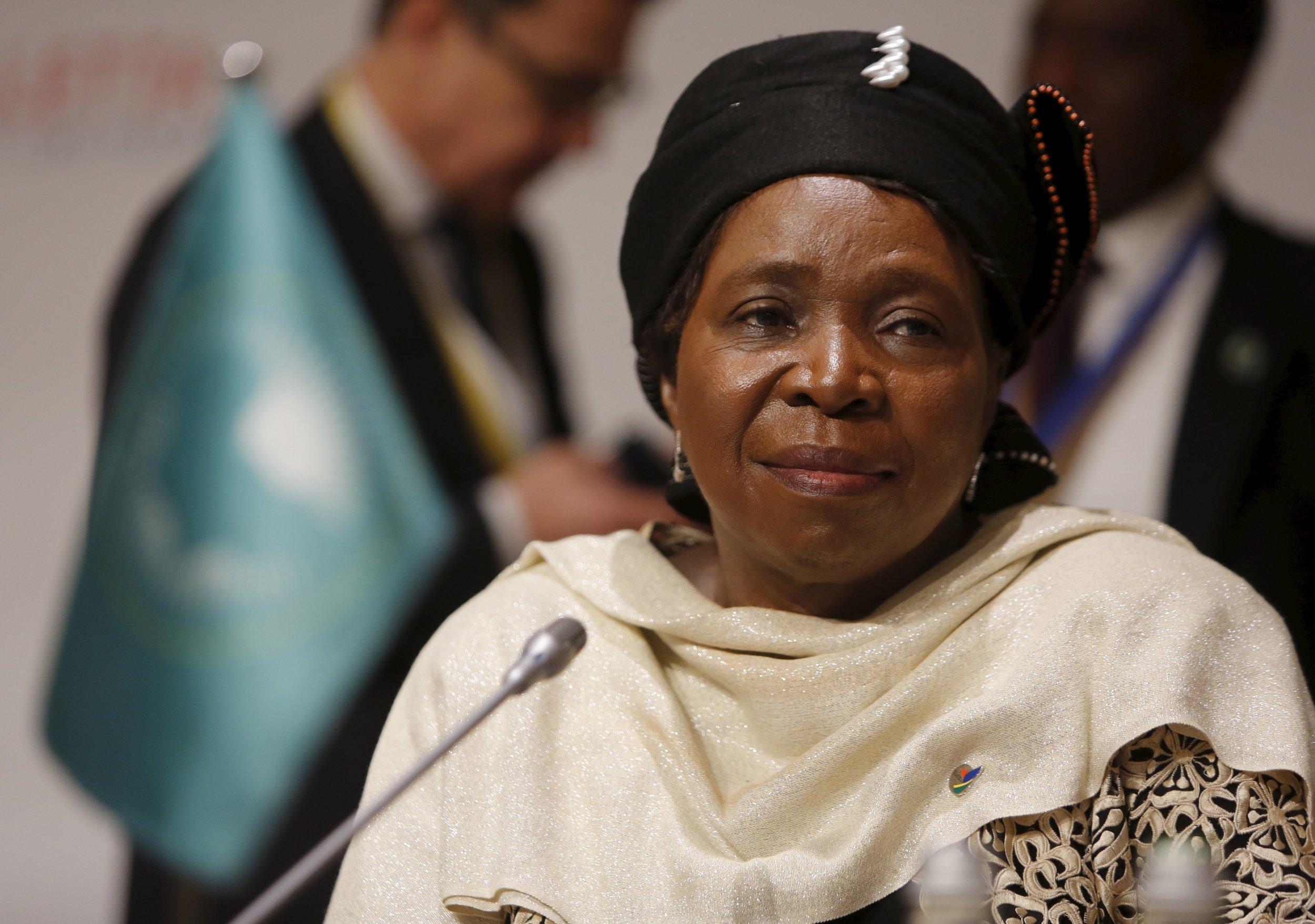 African Union chairperson Nkosazana Dlamini-Zuma attends the Valletta Summit in Malta.