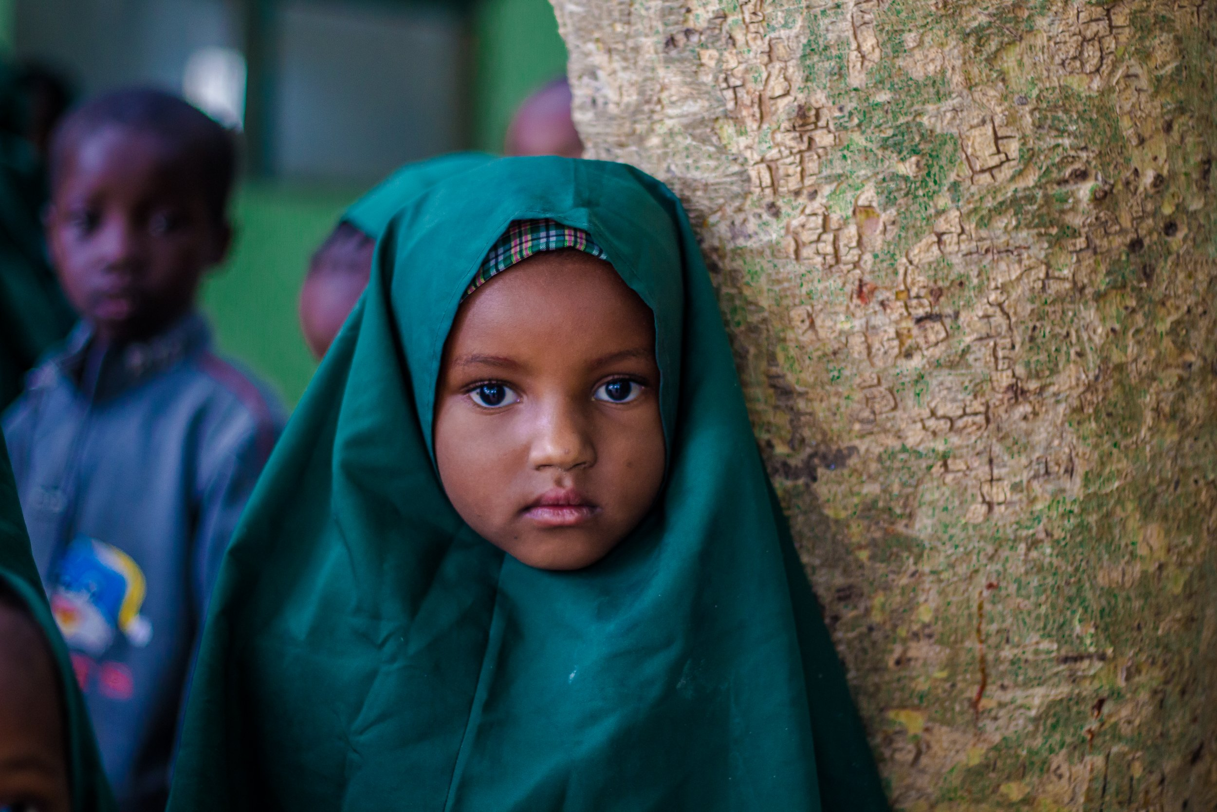An orphan girl at the Future Prowess Islamic Foundation School in Maiduguri.