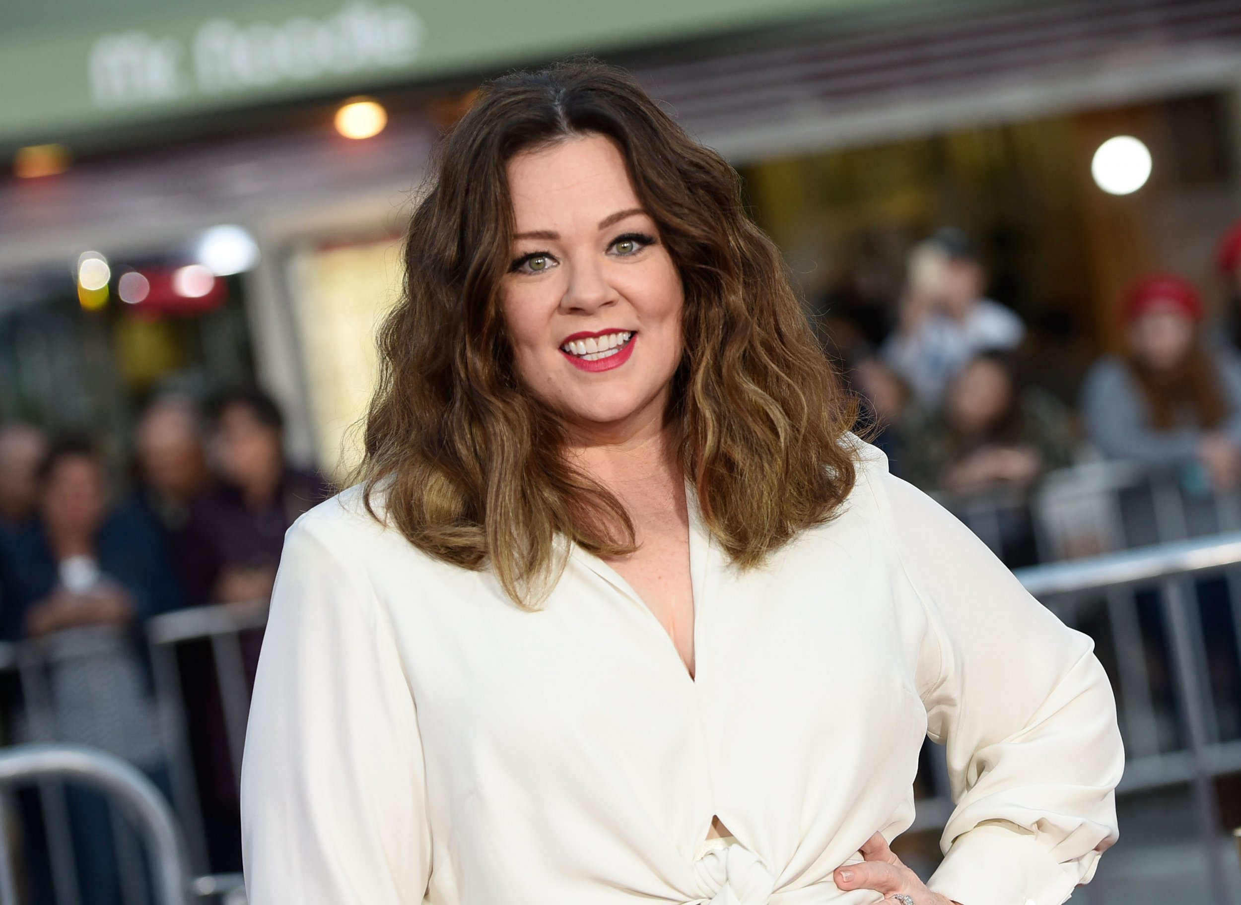Melissa McCarthy at The Boss premiere