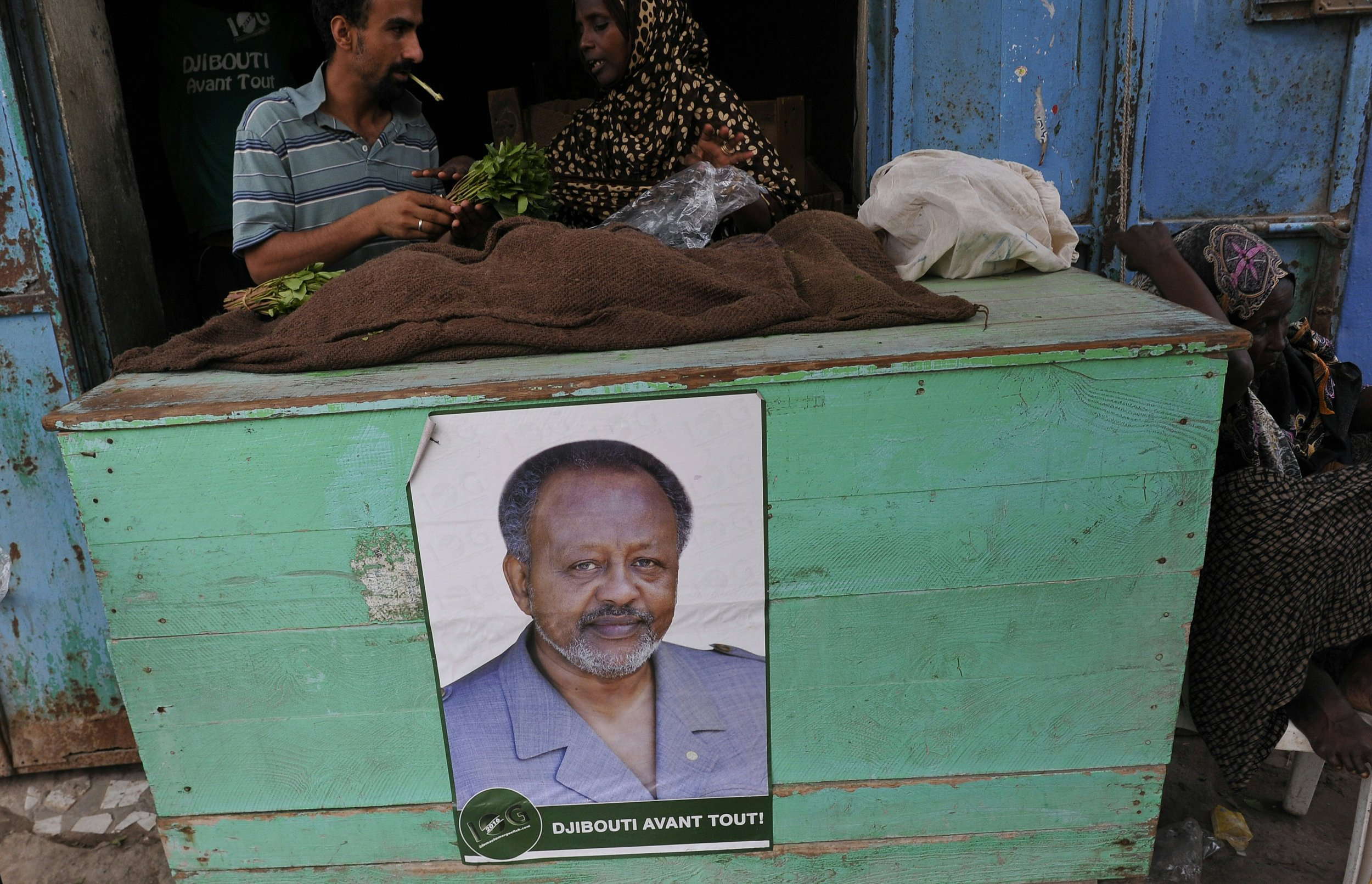Poster of Djiboutian President Ismaïl Omar Guelleh.