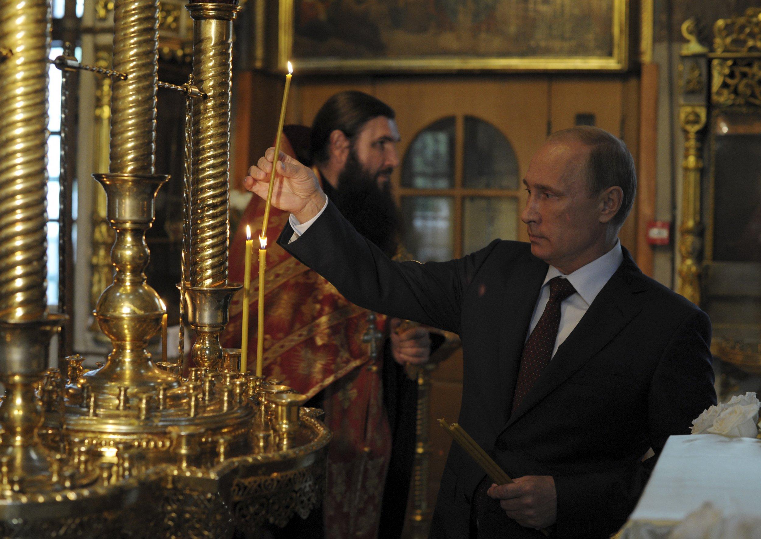 Putin in Church