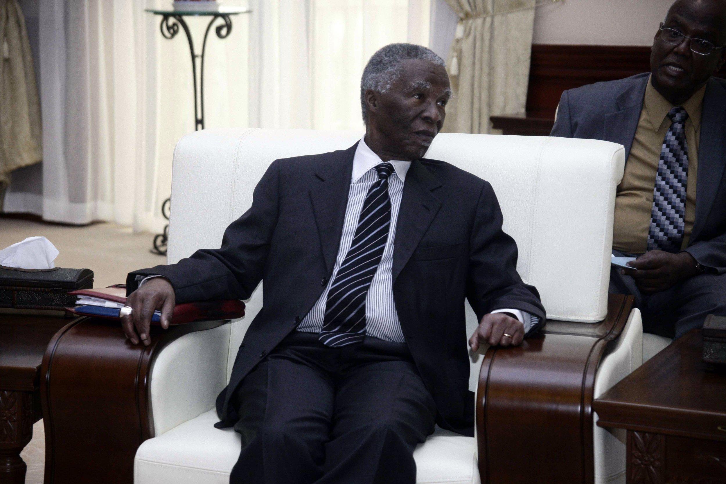 Former South African President Thabo Mbeki in Khartoum.