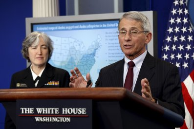 Dr Anthony Fauci and Dr Anne Schuchat