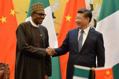Nigerian President Muhammadu Buhari and Chinese President Xi Jinping.