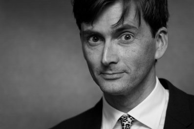 David Tennant black and white
