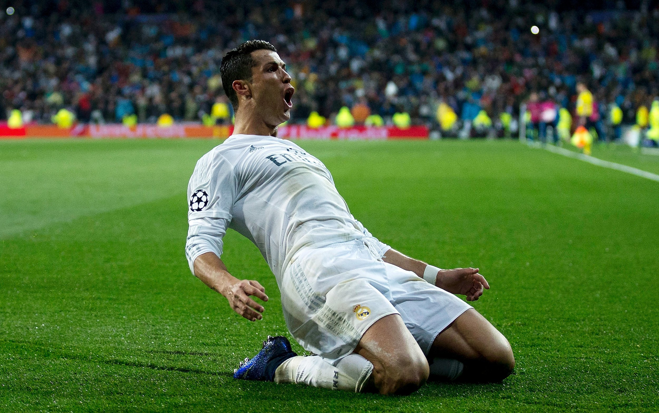 Cristiano Ronaldo scored a hat-trick on Tuesday to knock Wolfsburg out of the Champions League.