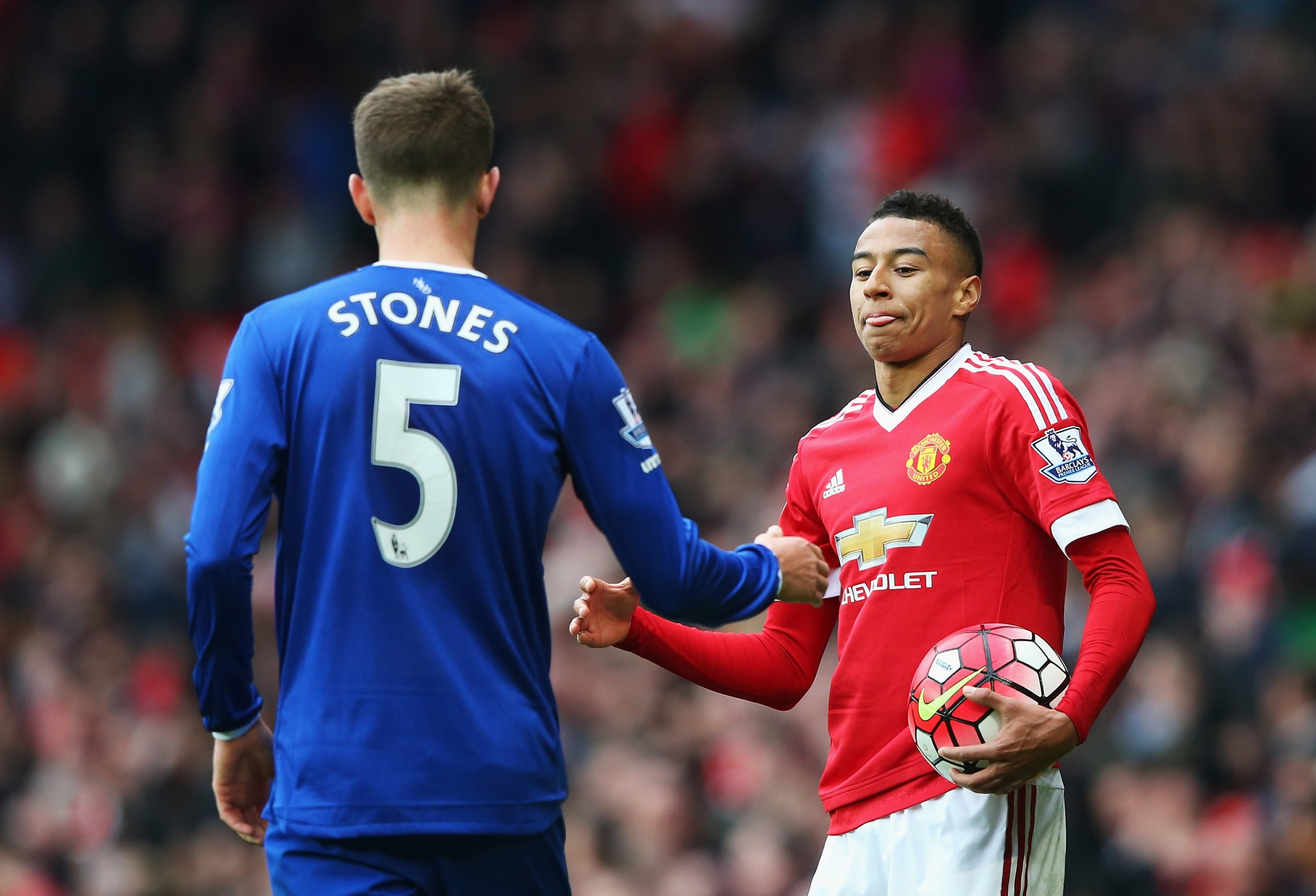 John Stones, left, is a reported Manchester United target.