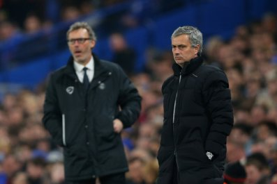 Jose Mourinho, right, could replace Laurent Blanc as Paris Saint-Germain manager.