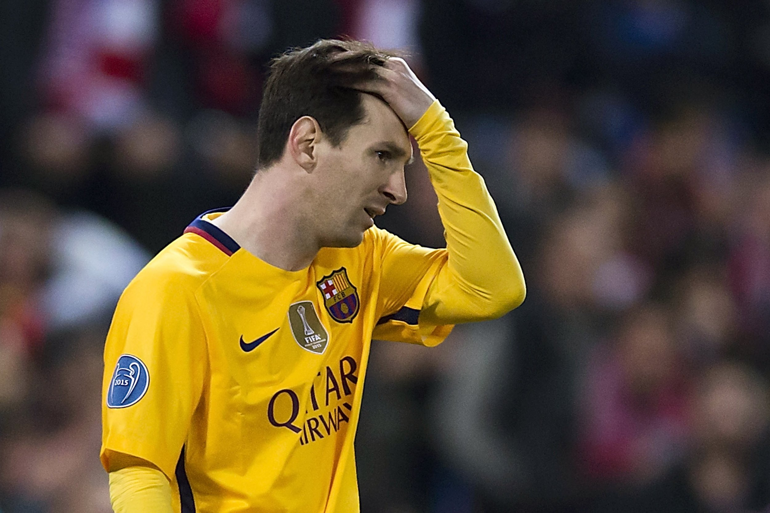 Lionel Messi is in his worst run of form for six years.