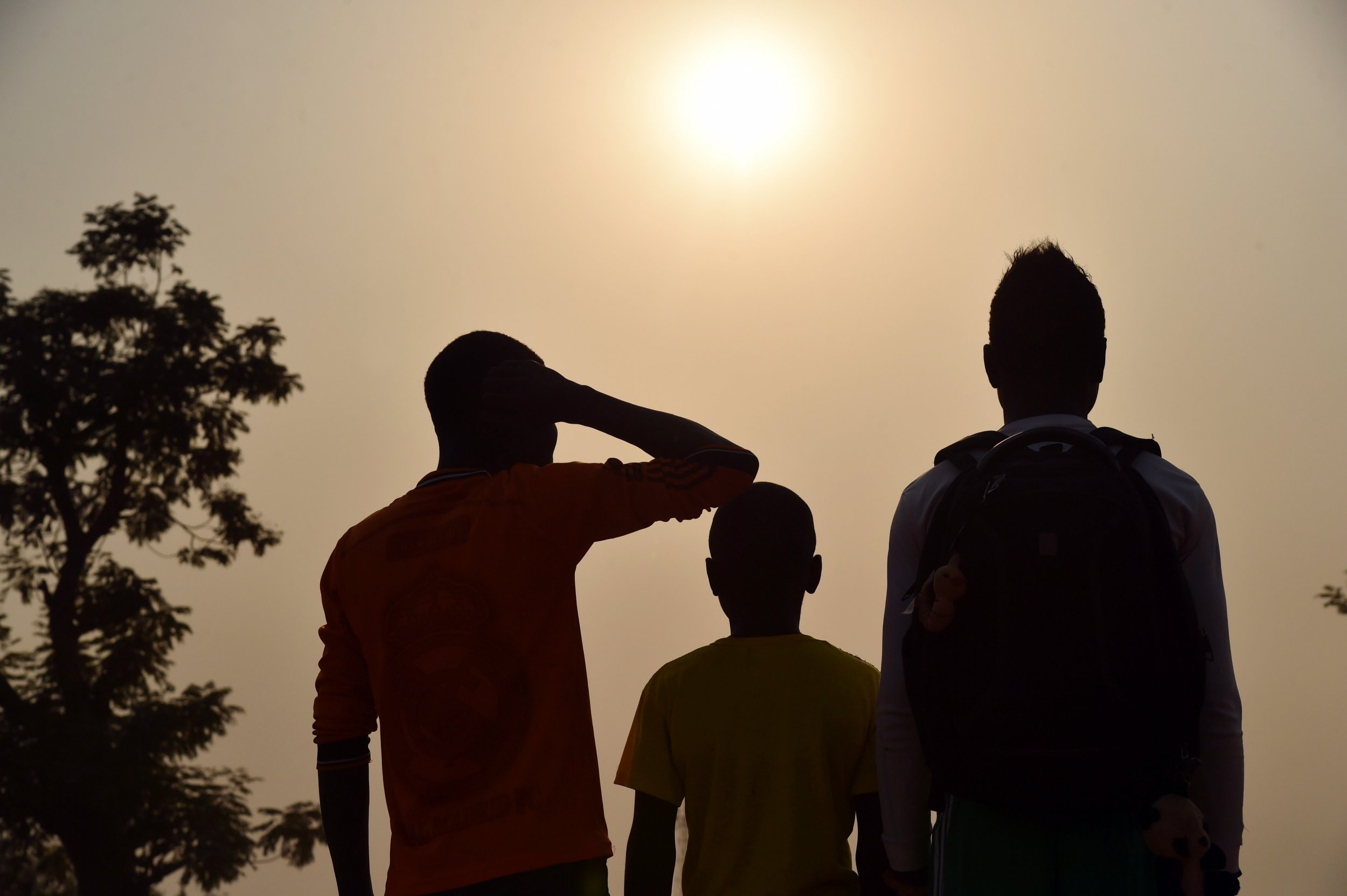Three Central African children claiming to be victims or witnesses of sex abuse by international troops.
