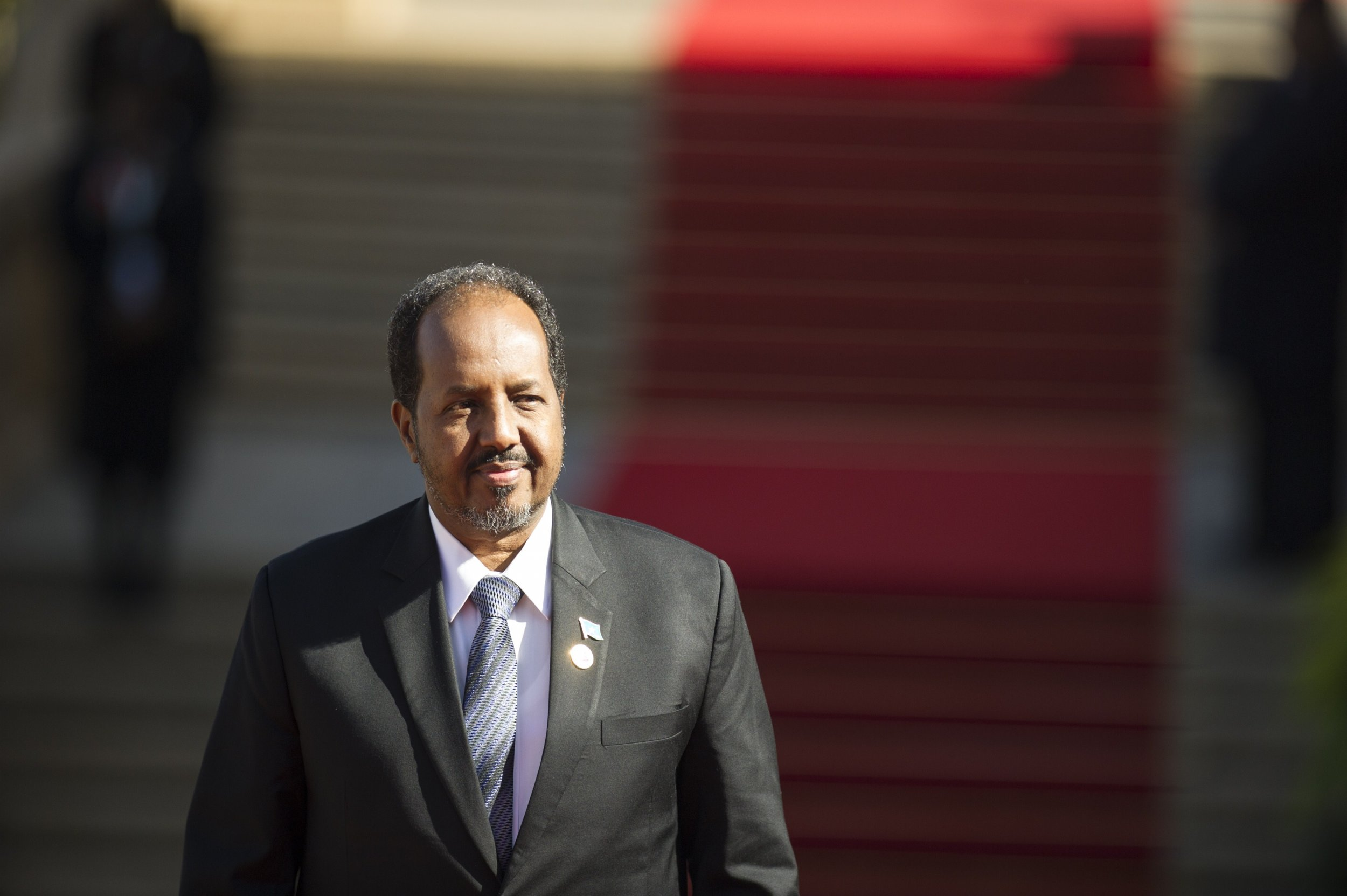 Somali President Hassan Sheikh Mohamud in South Africa.