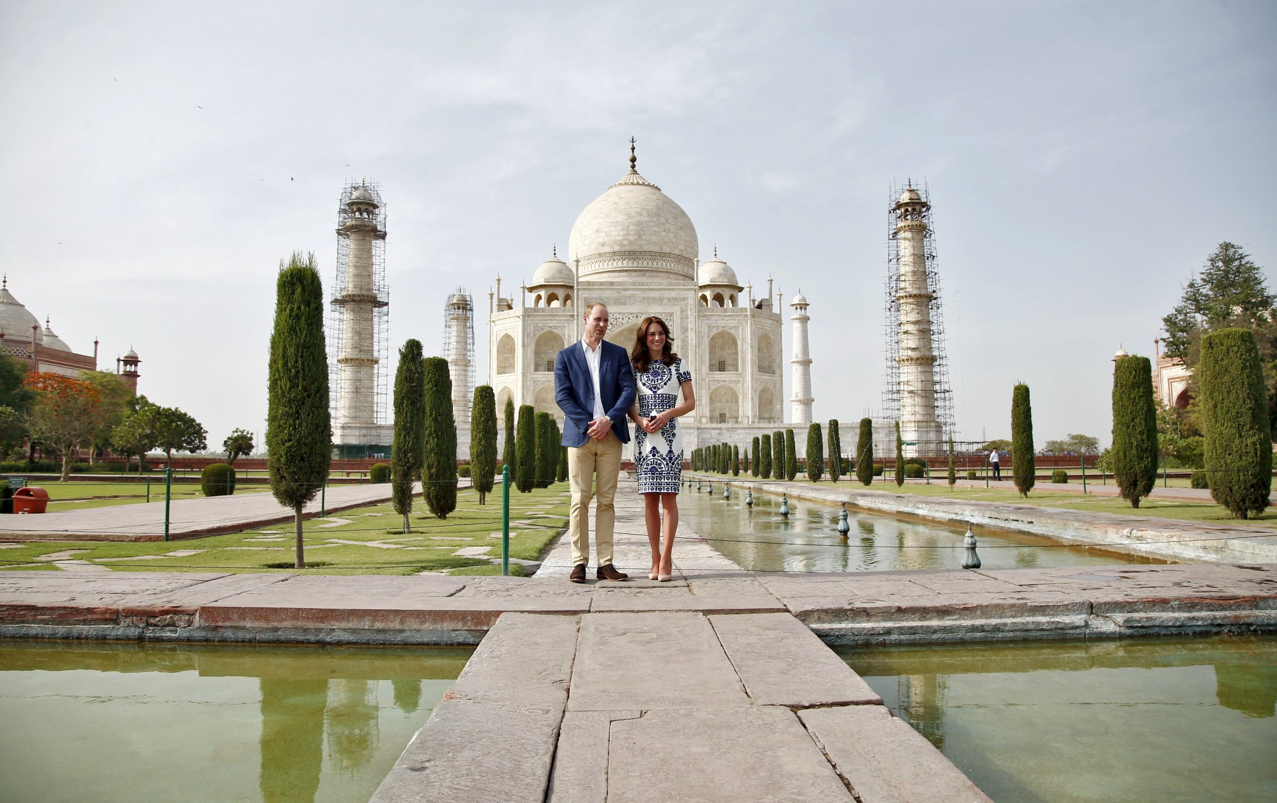 Prince William Kate Echo Diana S Visit To Taj Mahal