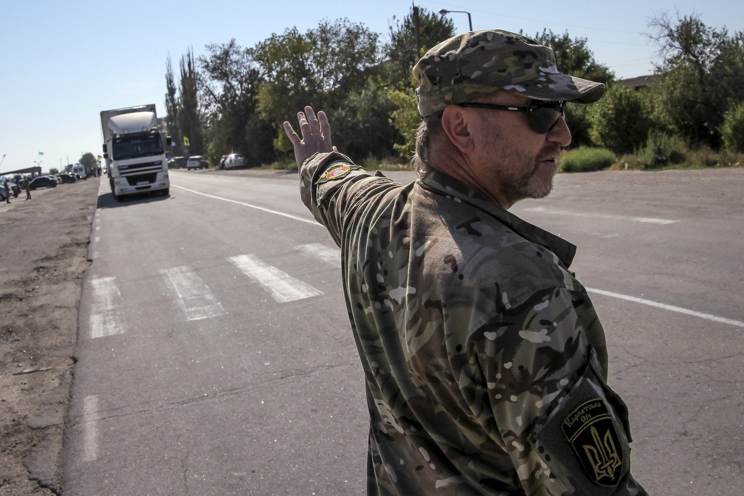 Crimea blockade Tatars