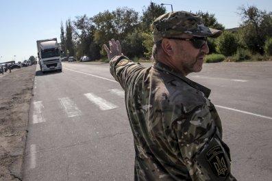 Crimea blockade Tatars