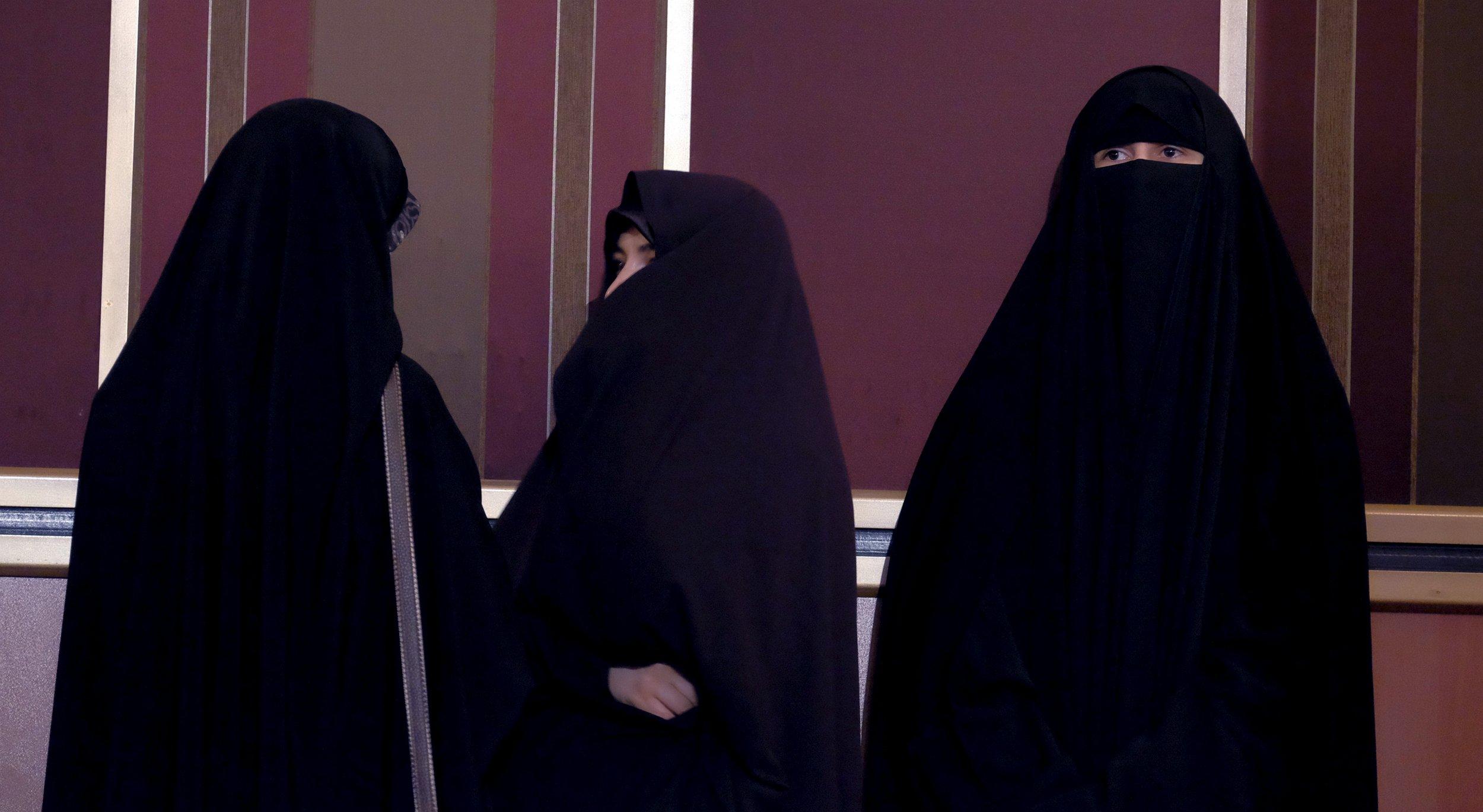 Veiled Iranian women in Tehran