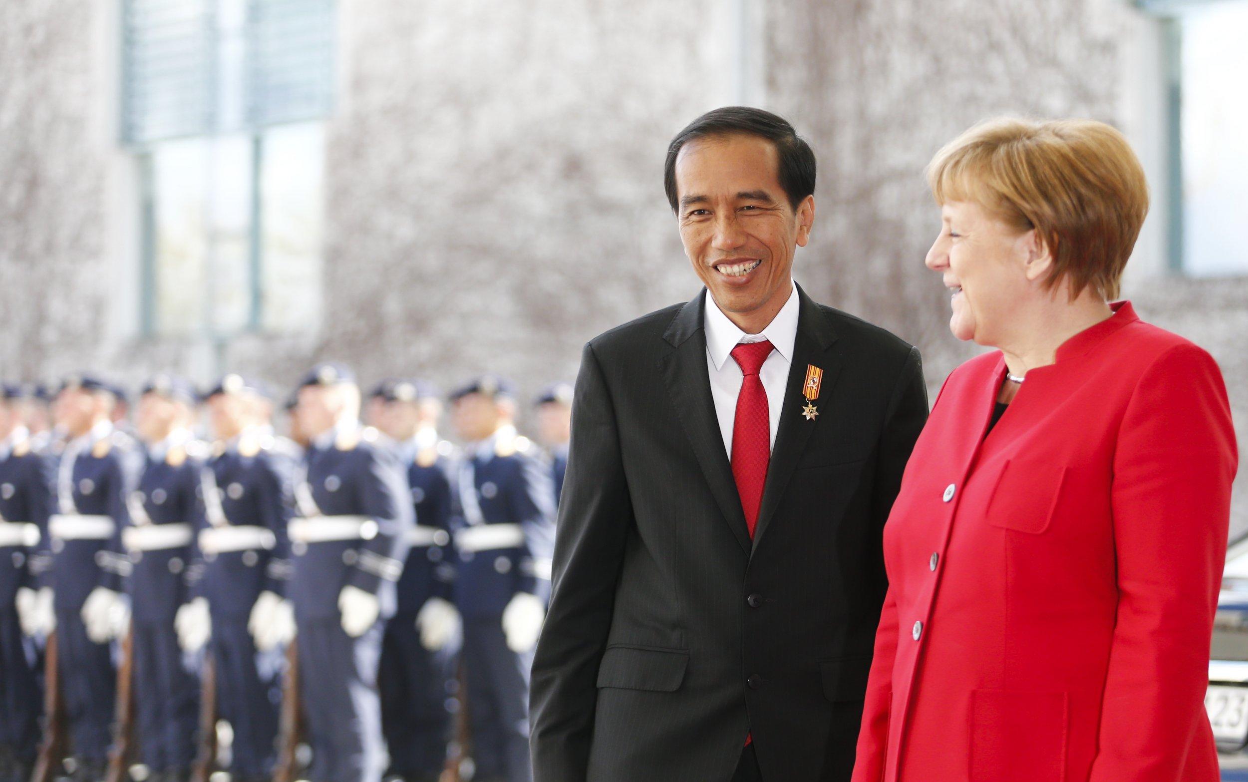 Angela Merkel and Joko Widodo