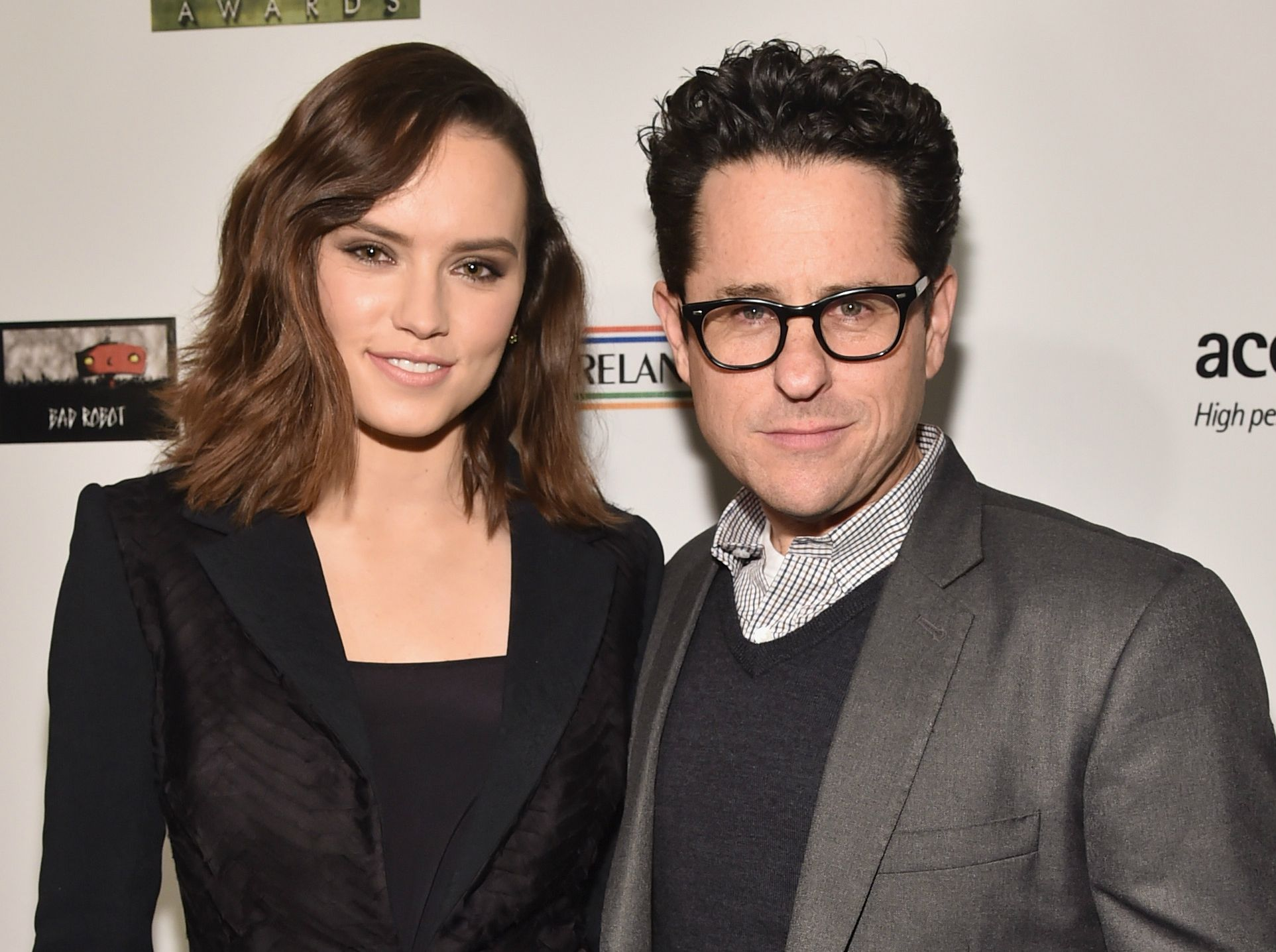 J.J. Abrams and Daisy Ridley