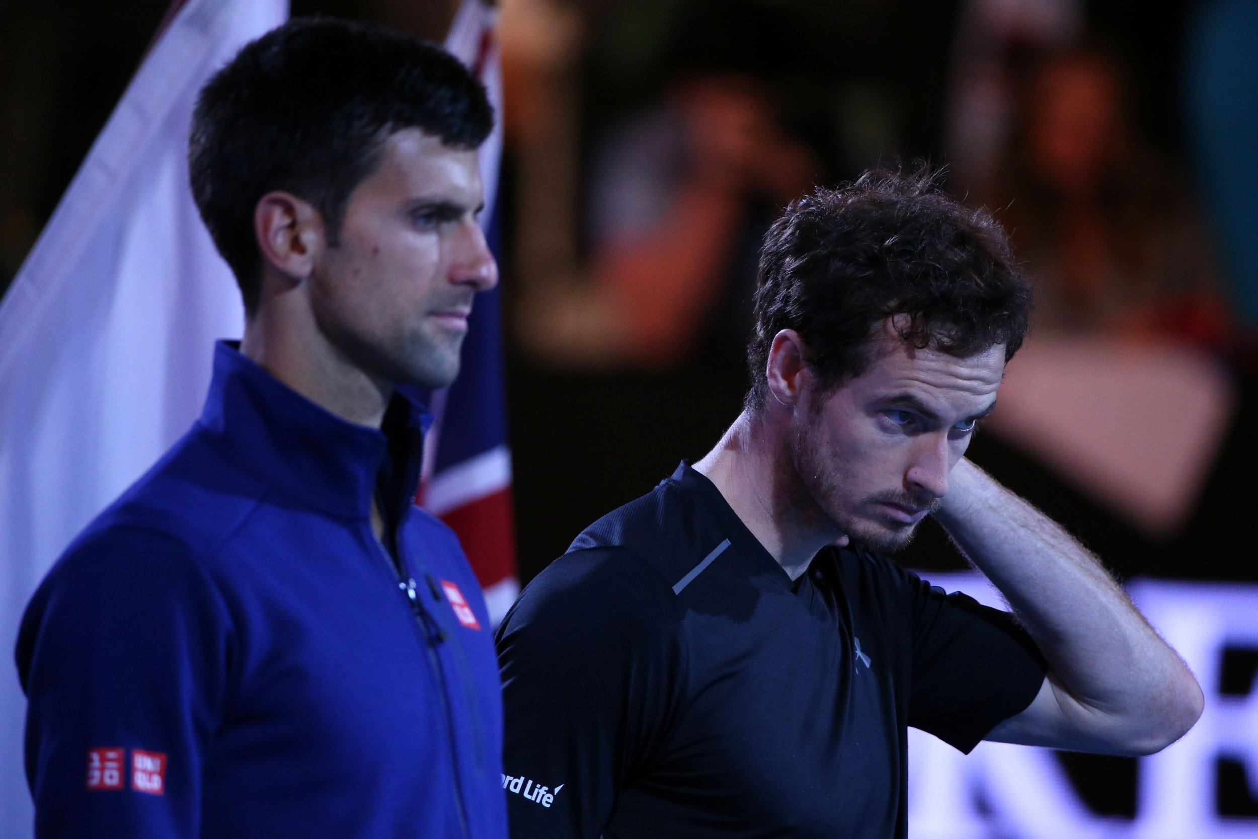 Andy Murray, right, has spoken out on doping in tennis, but Novak Djokovic says the sport is clean.