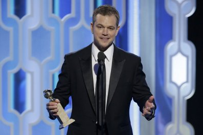 Matt Damon at 2016 Golden Globes