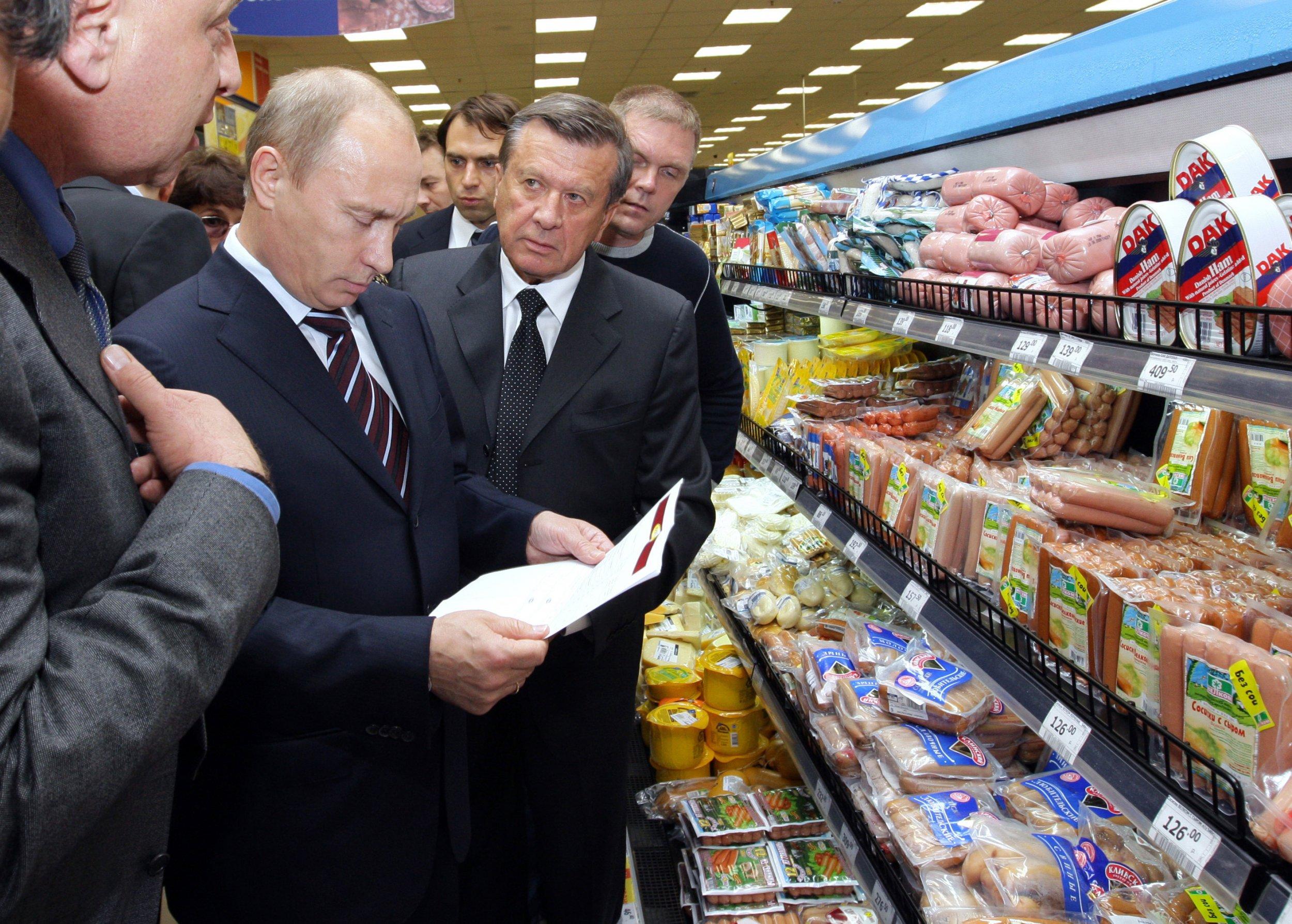 Putin in the supermarket